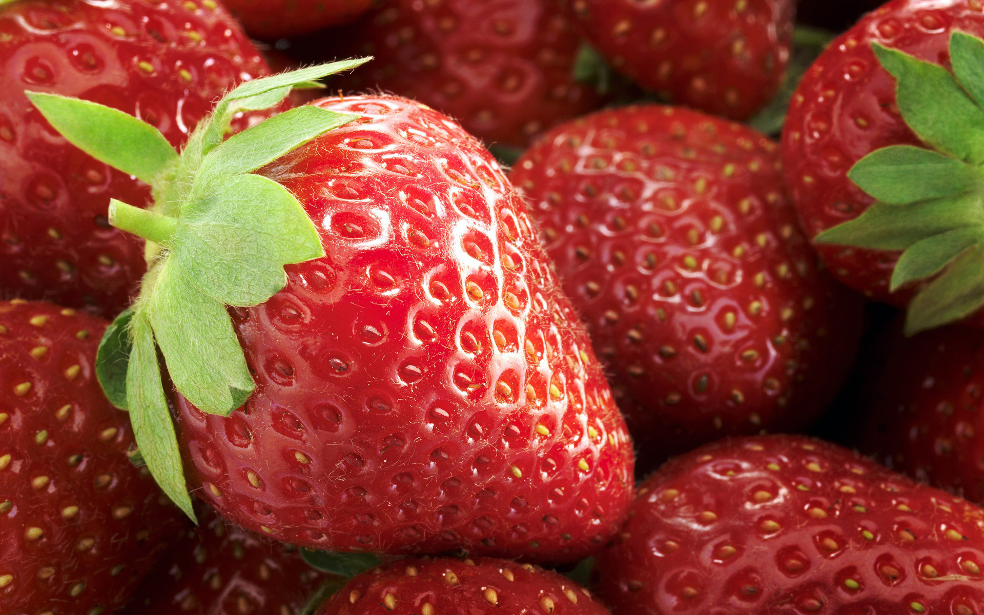 Handy-Wallpaper Obst, Lebensmittel, Erdbeere, Hintergrund, Berries kostenlos herunterladen.