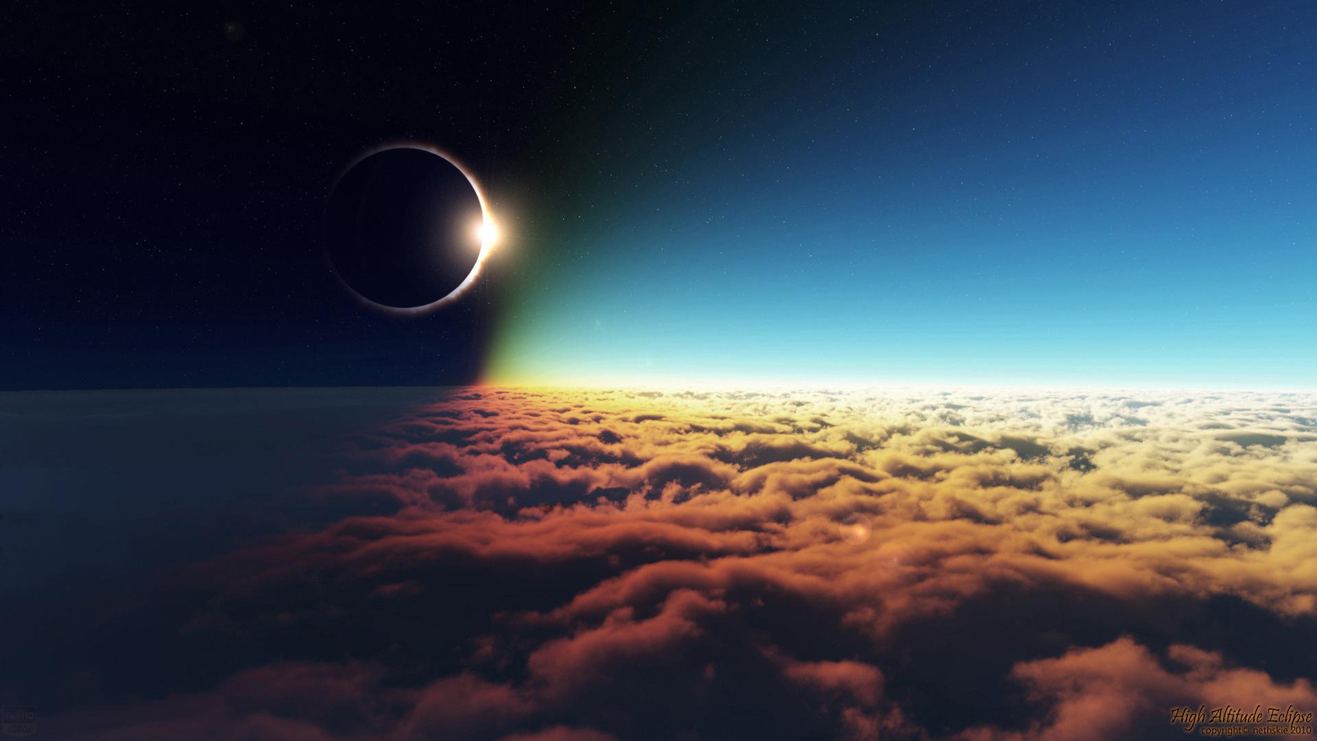 Скачать картинку Солнце, Облака, Небо, Пейзаж в телефон бесплатно.