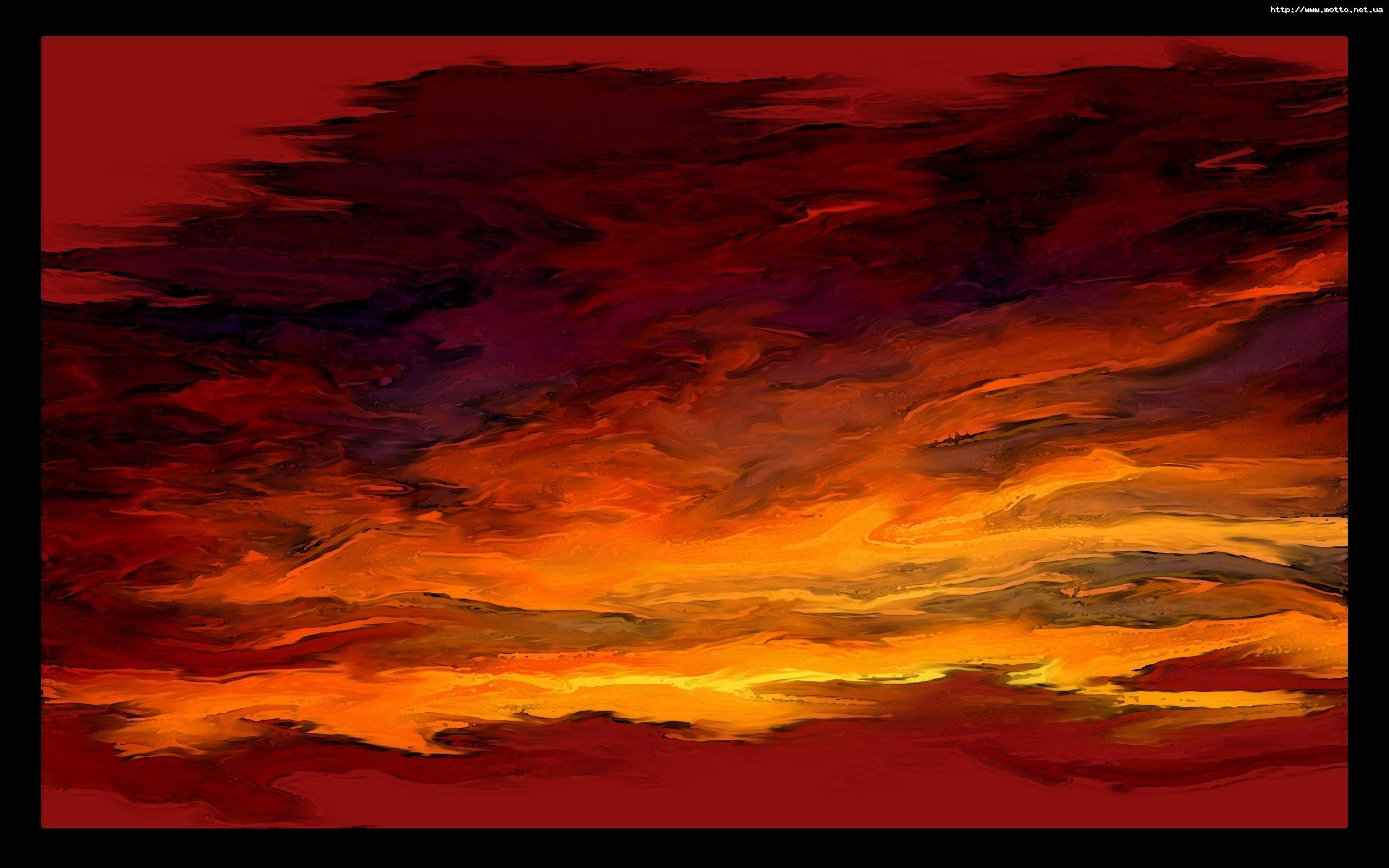4011 скачать обои Пейзаж, Закат, Небо, Рисунки - заставки и картинки бесплатно