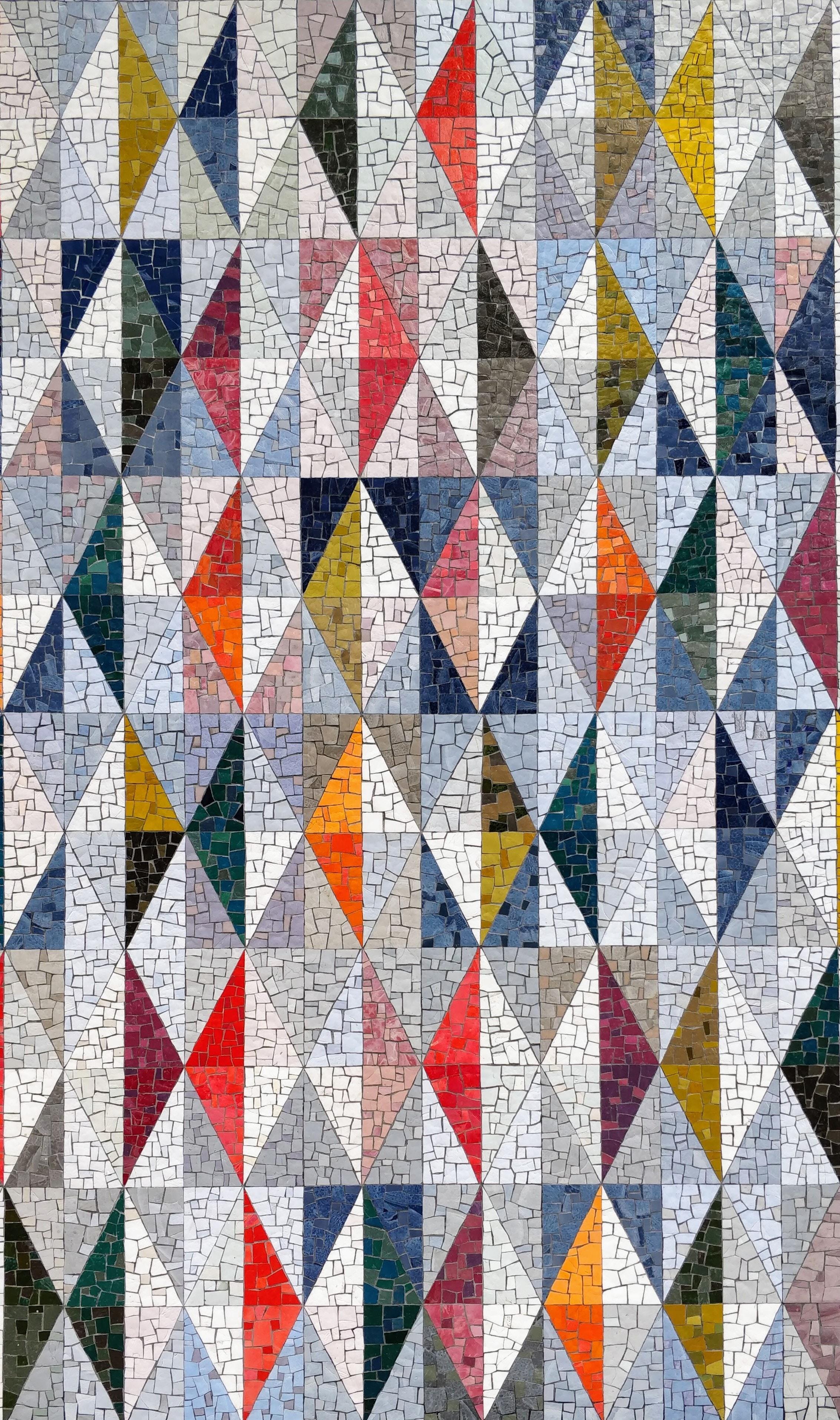免費壁紙128683:纹理, 马赛克, 多彩多姿, 五颜六色, 菱形, 图案, 几何学, 几何形状 下載手機圖片