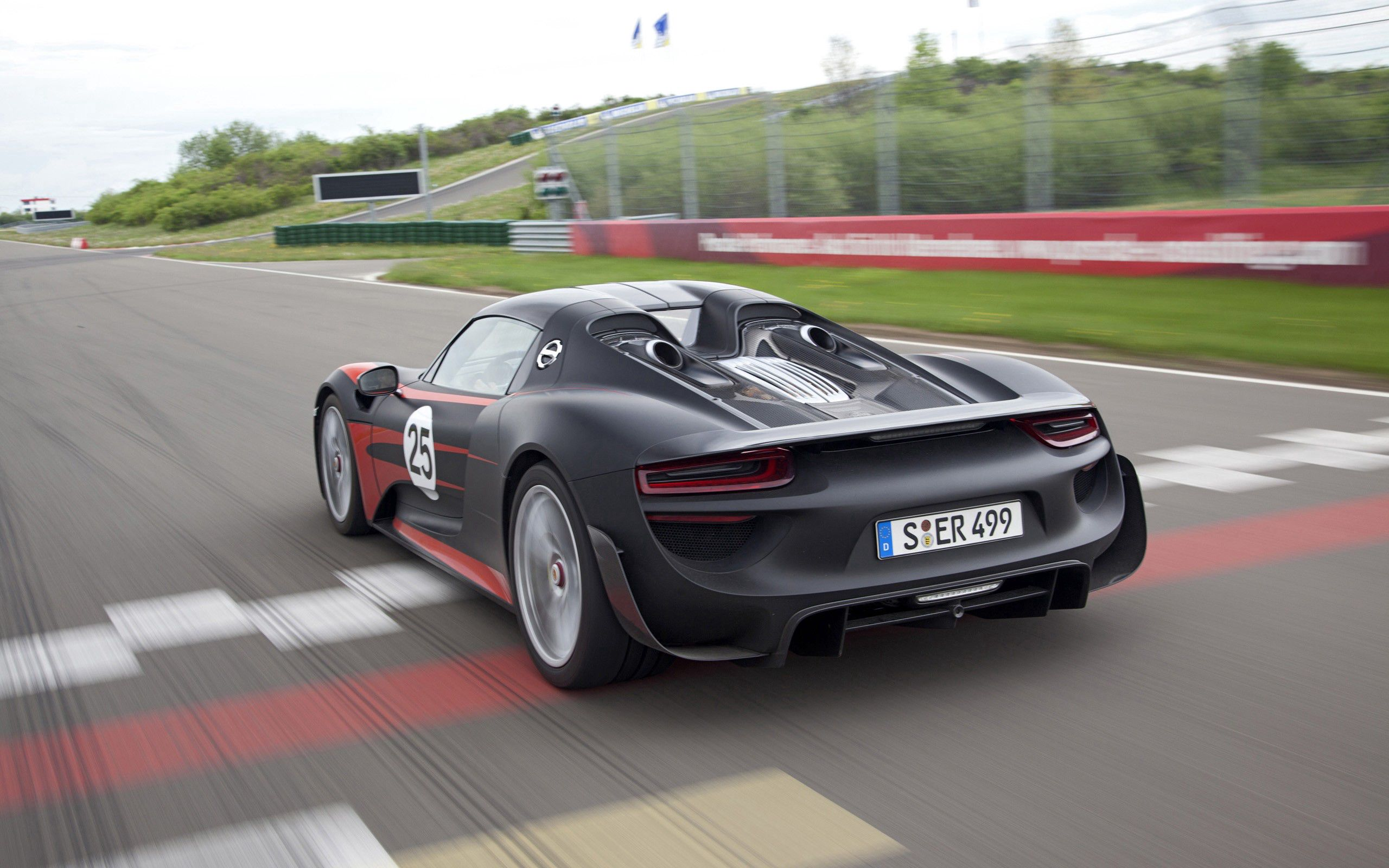 141852 download wallpaper Cars, Porsche 918, Porsche, Auto, Road, Speed screensavers and pictures for free