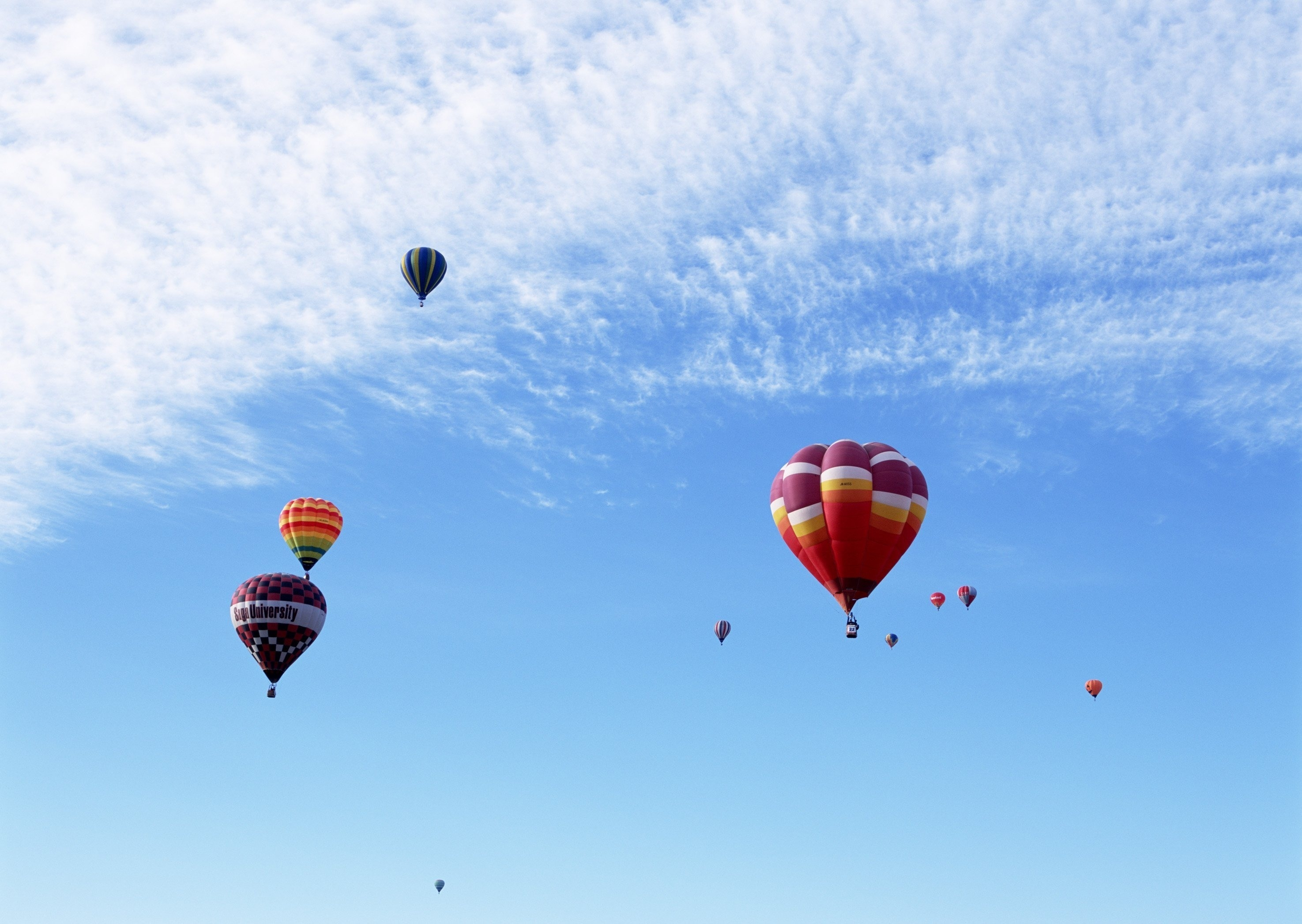 120843 Screensavers and Wallpapers Balloons for phone. Download Sky, Balloons, Miscellanea, Miscellaneous, Multicolored, Motley, Flight pictures for free