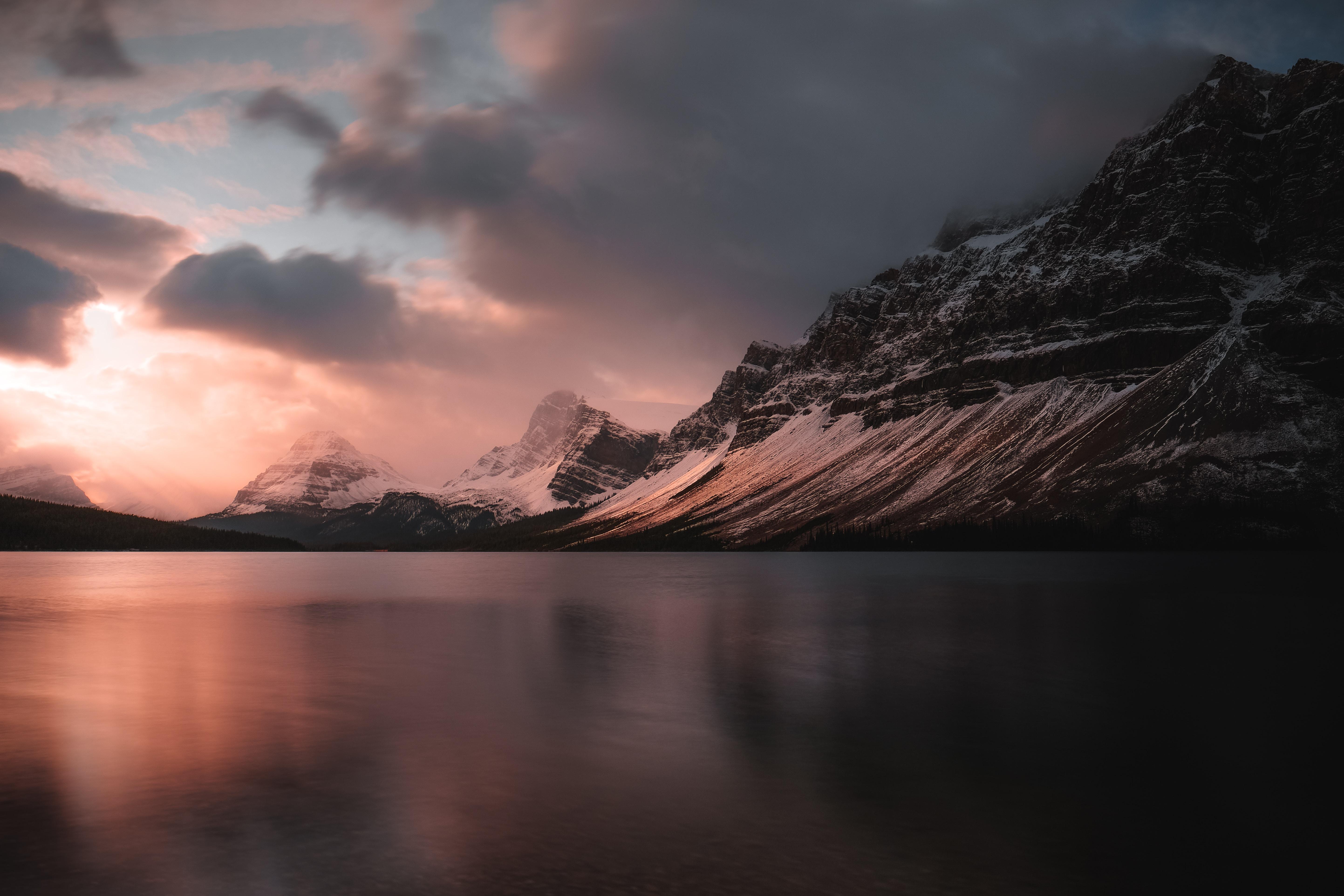 77796 descargar fondo de pantalla Naturaleza, Lago, Puesta Del Sol, Oscuridad, Crepúsculo, Montañas, Paisaje: protectores de pantalla e imágenes gratis