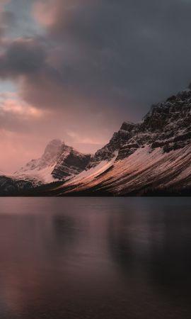 77796 скачать обои Природа, Озеро, Закат, Сумерки, Горы, Пейзаж - заставки и картинки бесплатно
