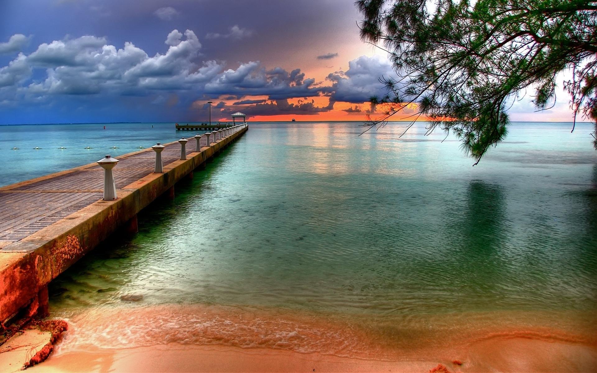 3071 скачать обои Пейзаж, Вода, Мосты, Небо, Море, Пляж - заставки и картинки бесплатно