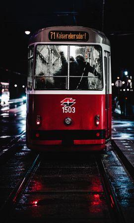 74058 descargar fondo de pantalla Miscelánea, Misceláneo, Tranvía, Noche, Ciudad, Transporte: protectores de pantalla e imágenes gratis