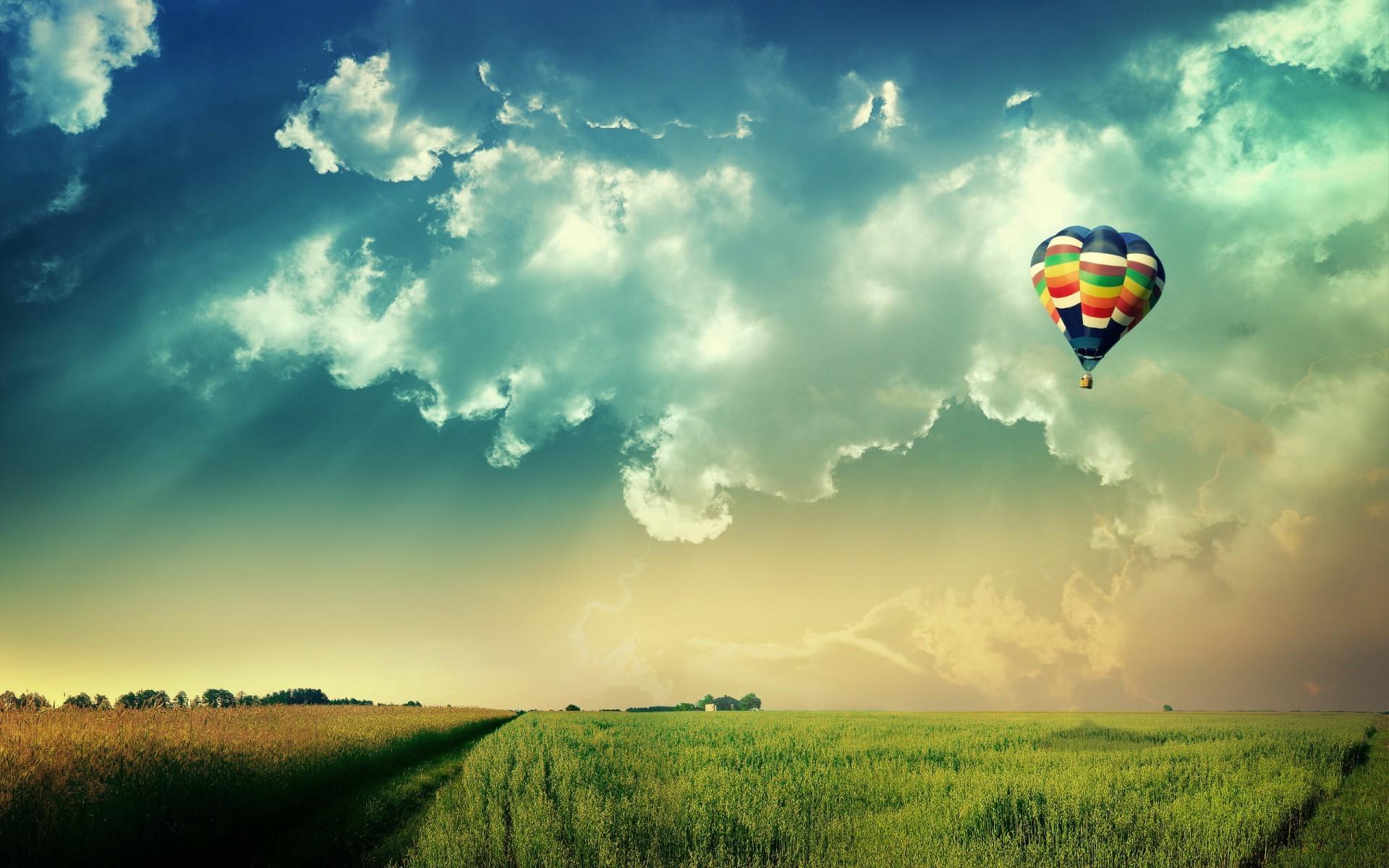 12404 скачать обои Пейзаж, Небо, Воздушные Шары - заставки и картинки бесплатно