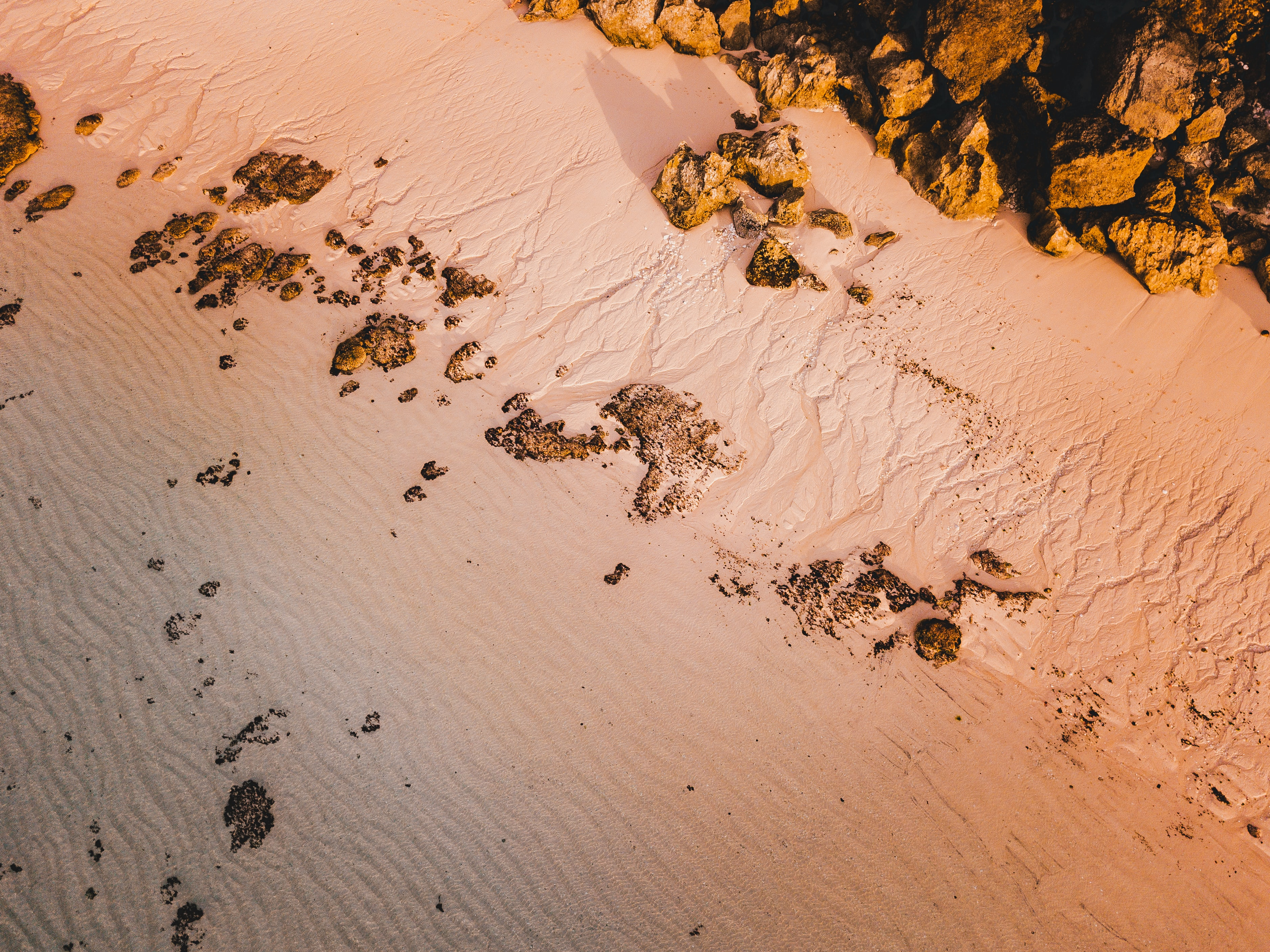 111898 download wallpaper Nature, Beach, Sand, Rocks, View From Above screensavers and pictures for free