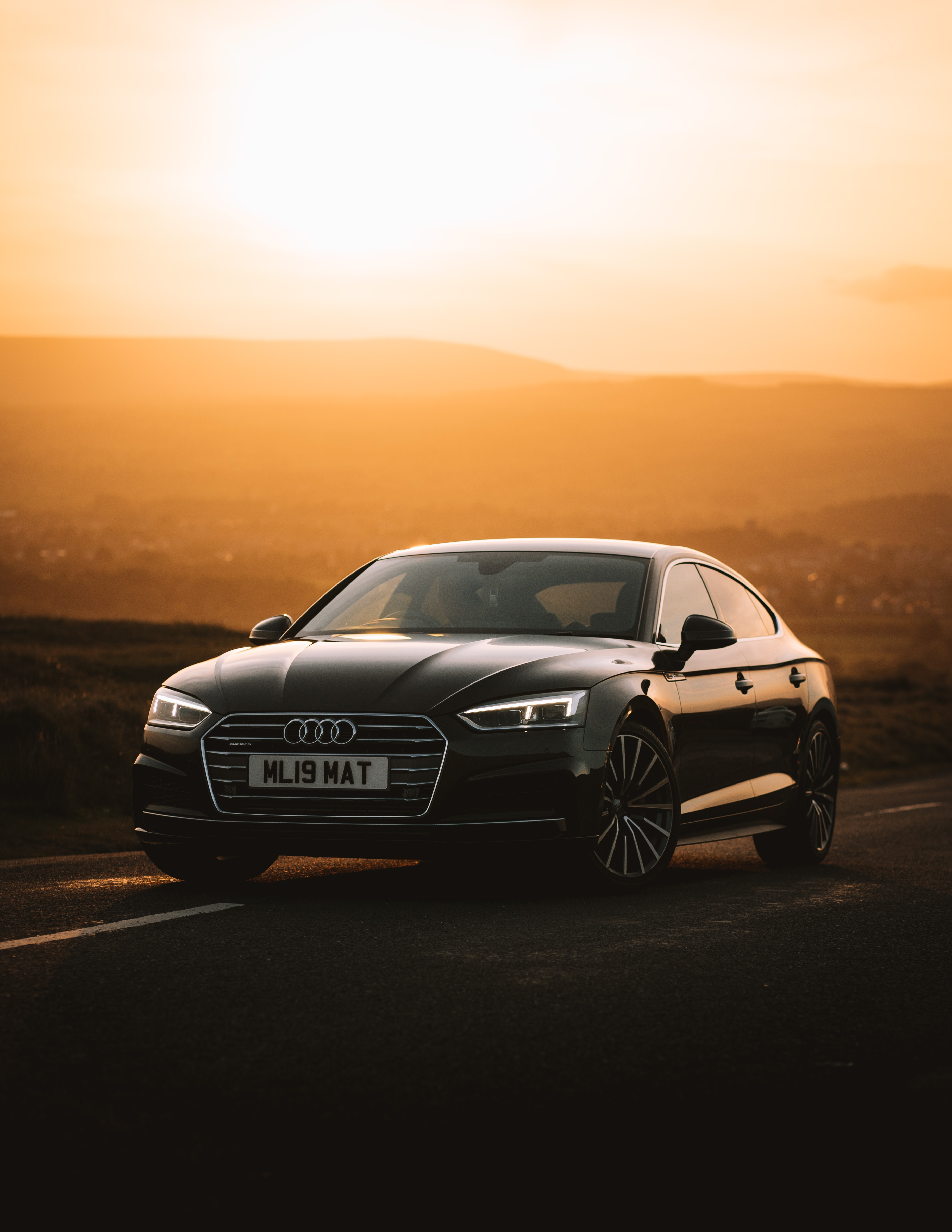 115564 Заставки и Обои Ауди (Audi) на телефон. Скачать Ауди (Audi), Audi A6, Закат, Тачки (Cars), Автомобиль, Вид Спереди картинки бесплатно