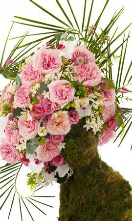 18933 baixar papel de parede Férias, Plantas, Rosas, Bouquets - protetores de tela e imagens gratuitamente