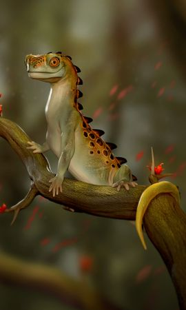 68163 Screensavers and Wallpapers Funny for phone. Download Lizard, Reptile, Funny, Art pictures for free