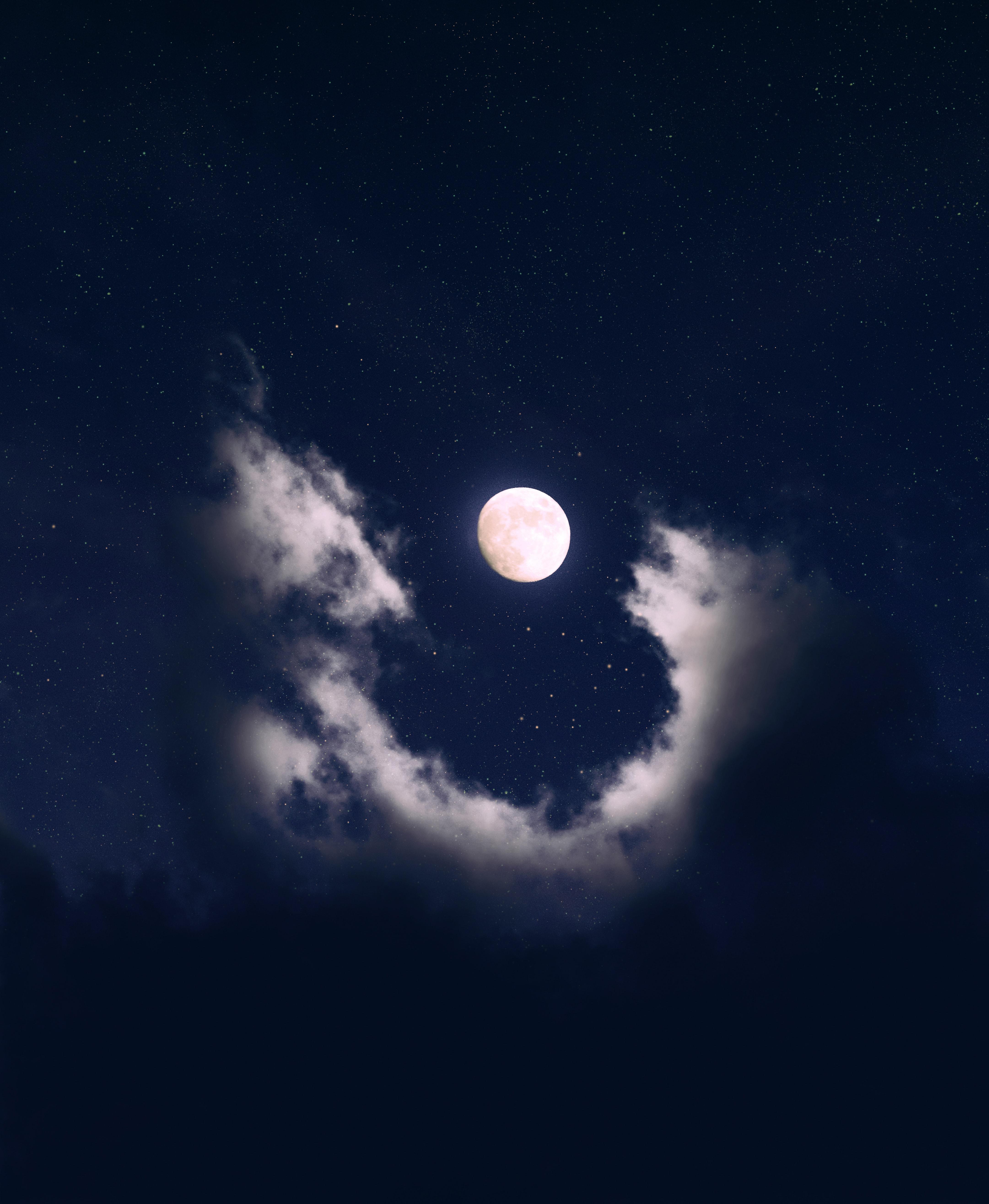 124302 Заставки и Обои Луна на телефон. Скачать Луна, Космос, Звезды, Ночь, Звездное Небо картинки бесплатно