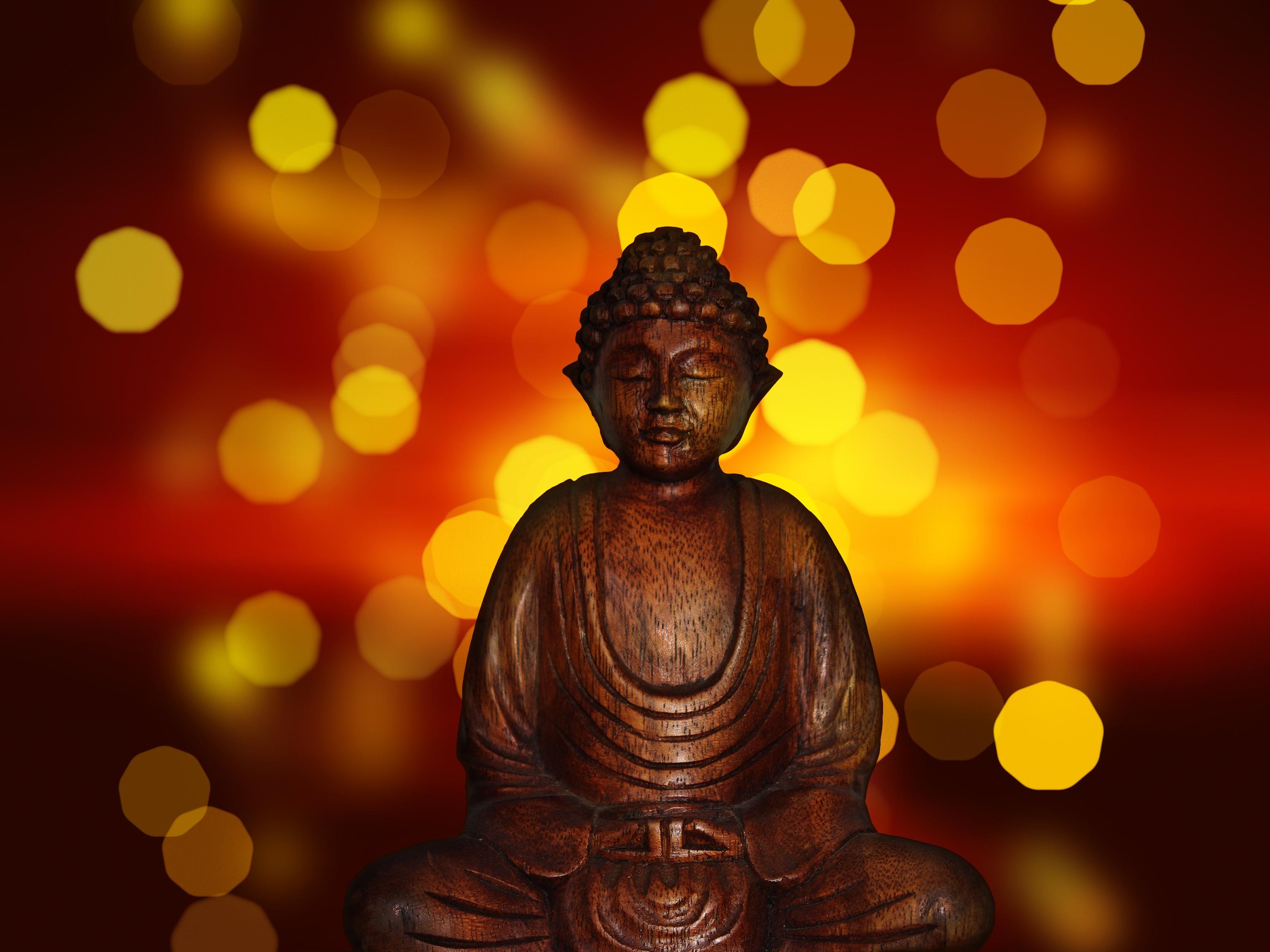 146251 скачать обои Разное, Будда, Медитация, Буддизм, Статуэтка, Блики - заставки и картинки бесплатно