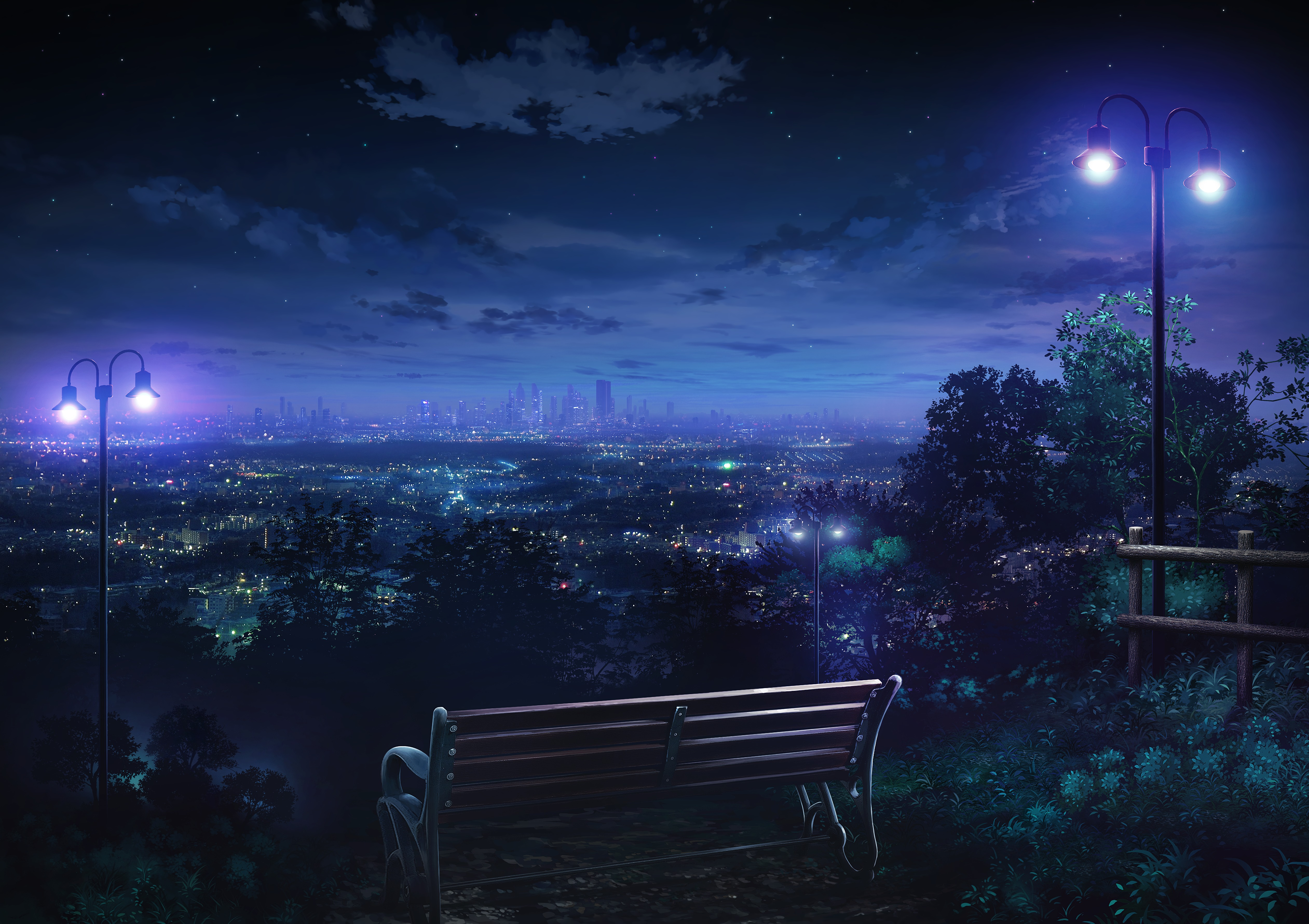 77844 Screensavers and Wallpapers Bench for phone. Download Art, Night City, Overview, Review, Bench pictures for free