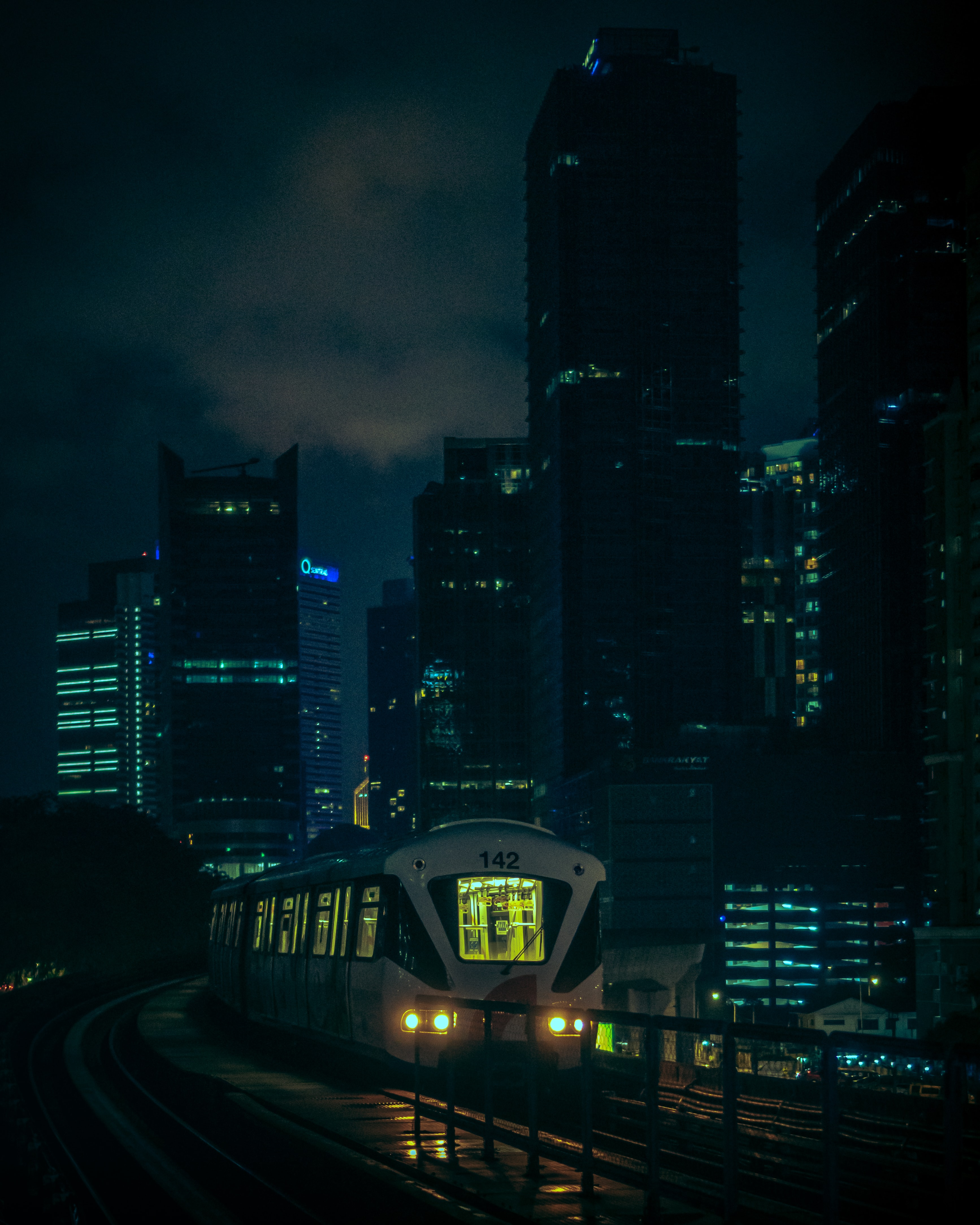 114872 Screensavers and Wallpapers Train for phone. Download Night, City, Building, Dark, Train pictures for free