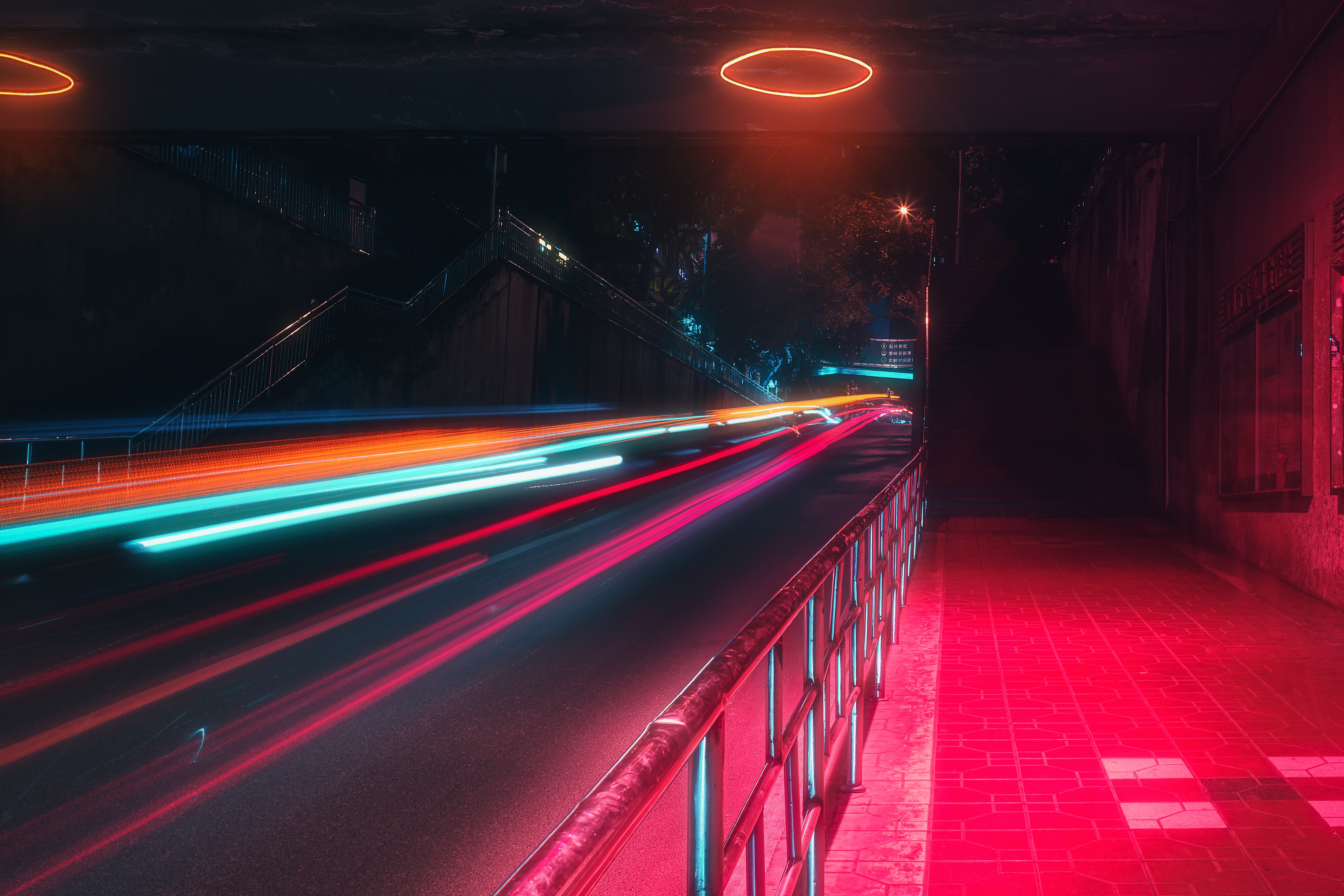 152014 Screensavers and Wallpapers Street for phone. Download Cities, Night, Lights, Traffic, Movement, Long Exposure, Neon, Street pictures for free