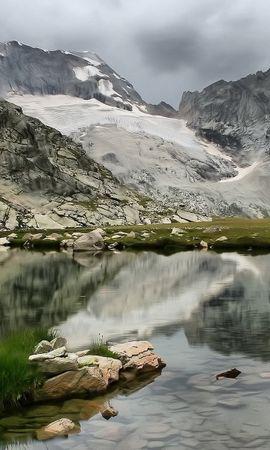 35733 télécharger le fond d'écran Paysage, Montagnes, Lacs - économiseurs d'écran et images gratuitement