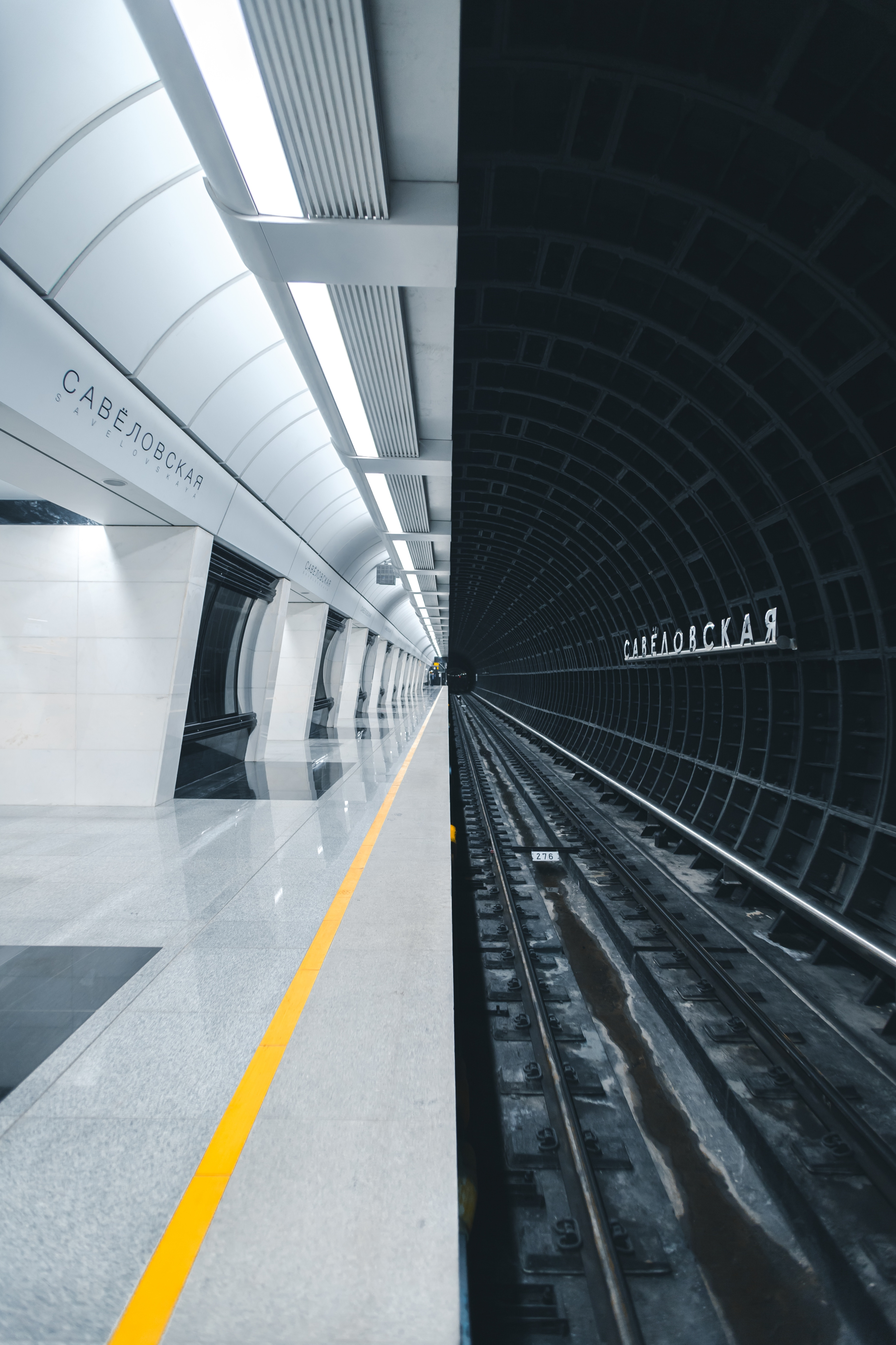 152246 Screensavers and Wallpapers Metro for phone. Download Minimalism, Tunnel, Station, Underground, Rails, Metro, Subway pictures for free