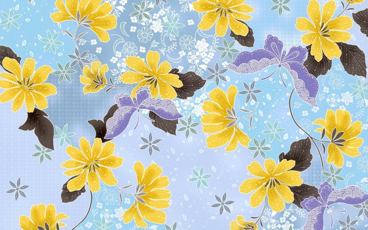 17259 download wallpaper Butterflies, Flowers, Background screensavers and pictures for free