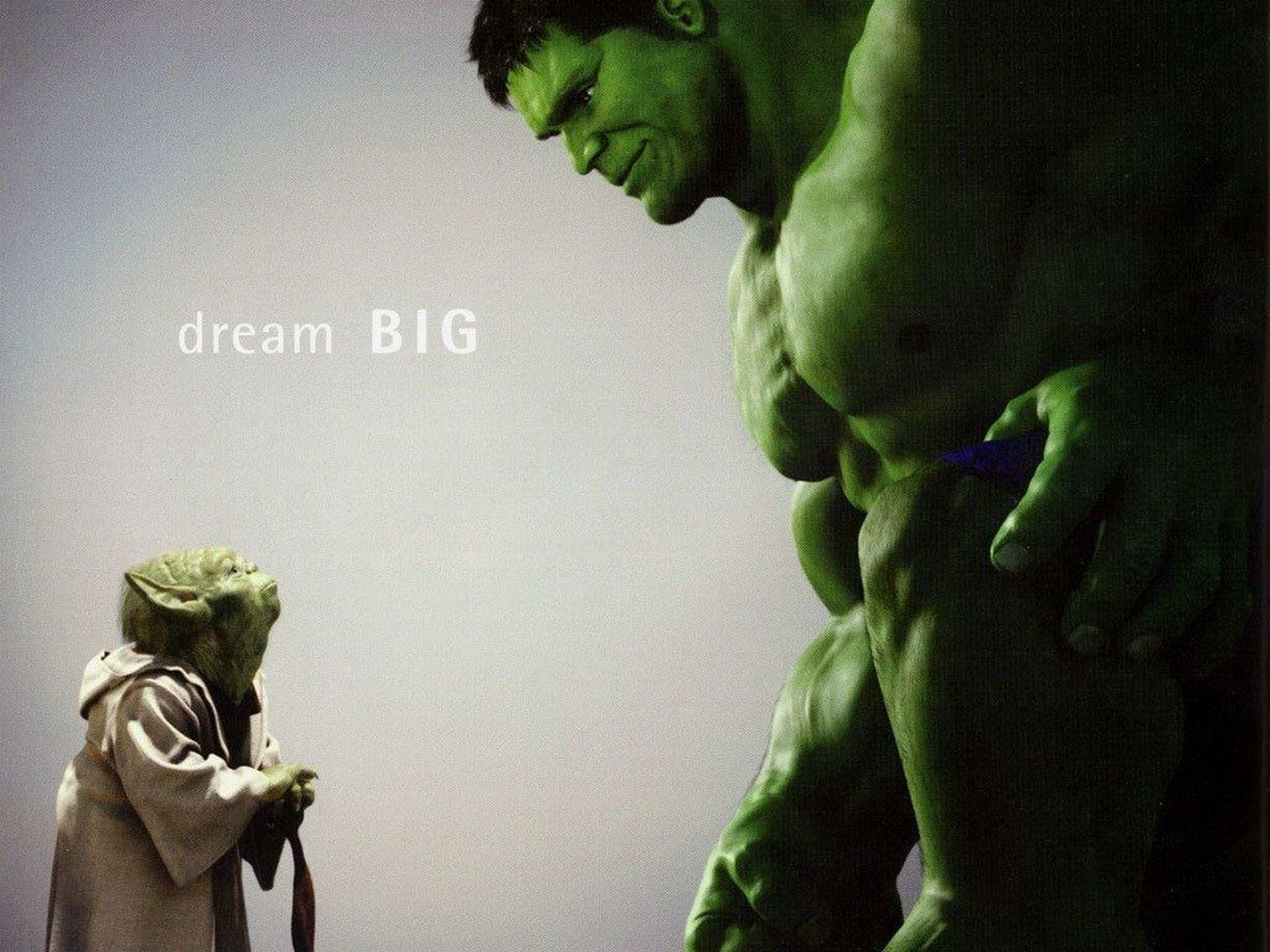 3097 download wallpaper Cinema, Funny, Star Wars, Hulk, Master Yoda screensavers and pictures for free