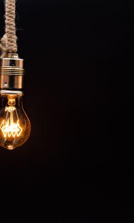 141605壁紙のダウンロードミニマリズム, 電球, ザ ラモチカ, 点灯, 照明, ロープ, 縄, 電気, エジソンランプ, エズソンランプ-スクリーンセーバーと写真を無料で