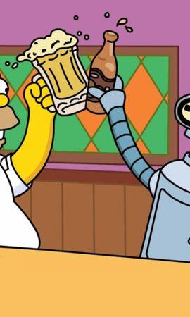 41438 скачать обои Мультфильмы, Гомер Симпсон (Homer Simpson), Симпсоны (The Simpsons), Рисунки - заставки и картинки бесплатно