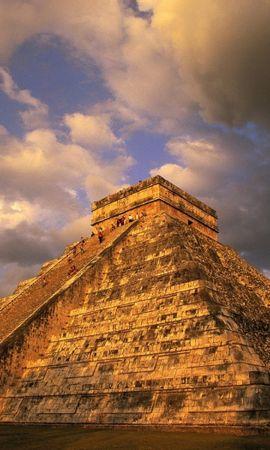 24390 baixar papel de parede Paisagem, Arquitetura, Nuvens, Pirâmides - protetores de tela e imagens gratuitamente
