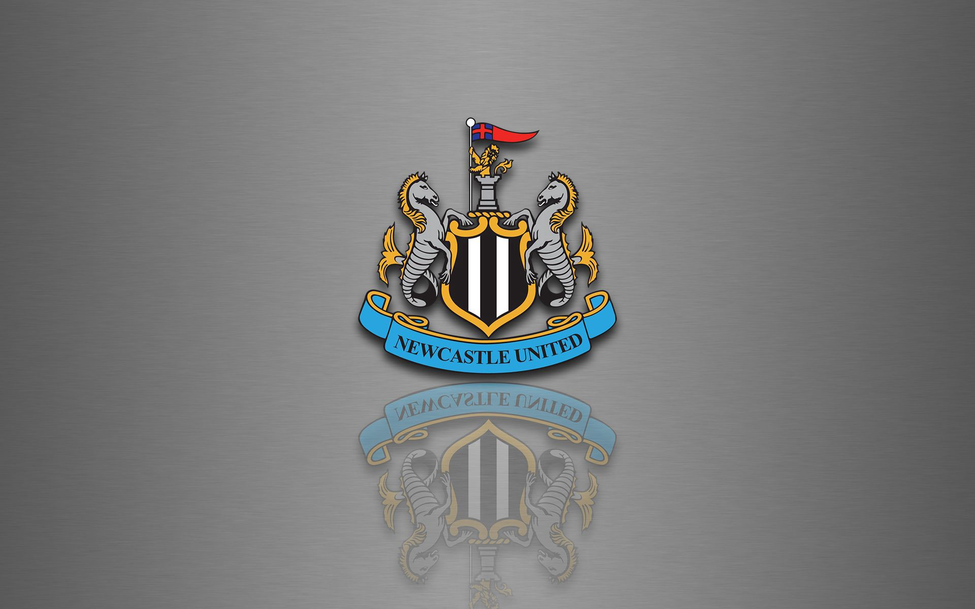 96700 download wallpaper Football, Sports, Reflection, Logo, Logotype, Newcastle United screensavers and pictures for free