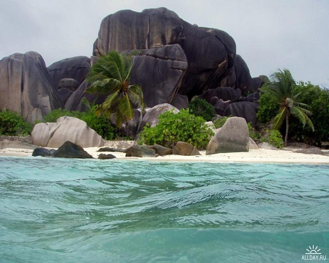 490壁紙のダウンロード風景, 水, ストーンズ, 海, ビーチ, パームス-スクリーンセーバーと写真を無料で