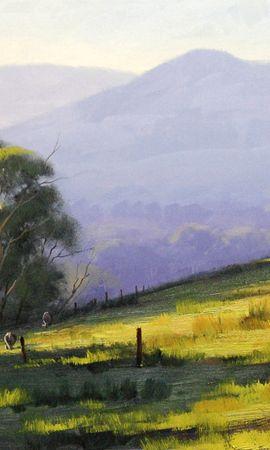 28036 скачать обои Пейзаж, Деревья, Рисунки - заставки и картинки бесплатно