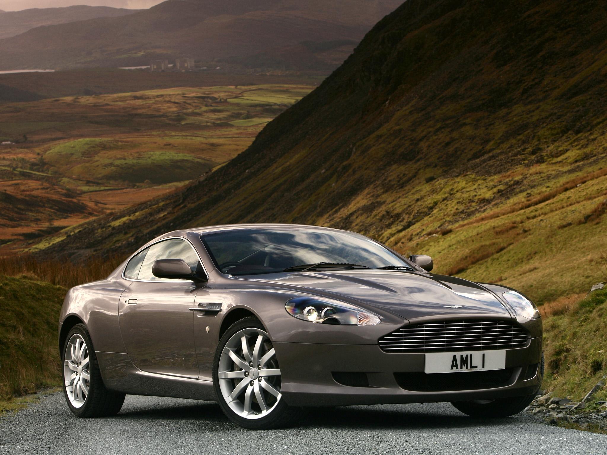 62588 скачать обои Машины, Природа, Астон Мартин (Aston Martin), Тачки (Cars), Вид Сбоку, Стиль, 2004, Db9, Серый Металлик - заставки и картинки бесплатно