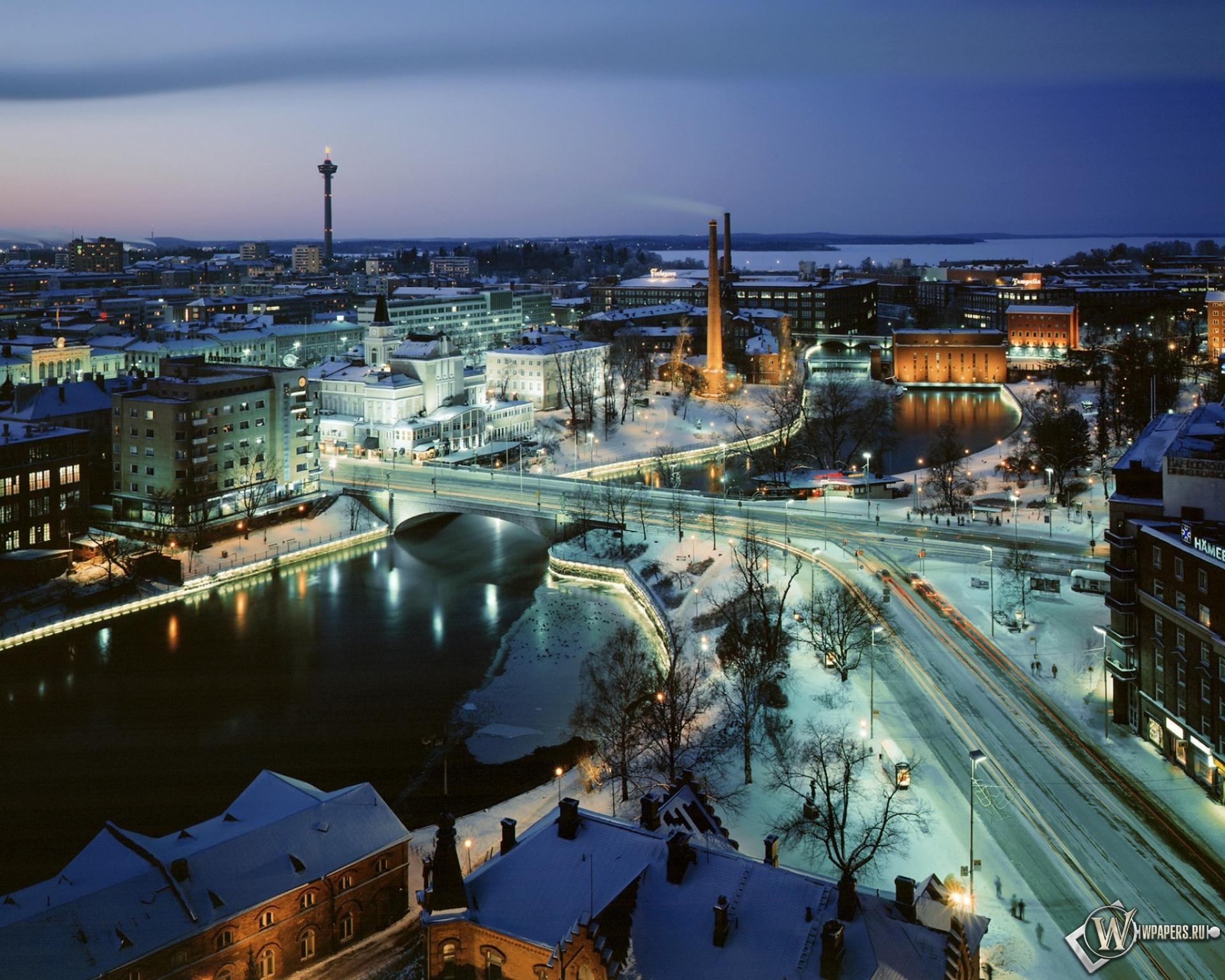 Handy-Wallpaper Landschaft, Städte, Winterreifen, Übernachtung kostenlos herunterladen.