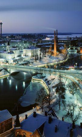 22024 скачать обои Пейзаж, Города, Зима, Ночь - заставки и картинки бесплатно