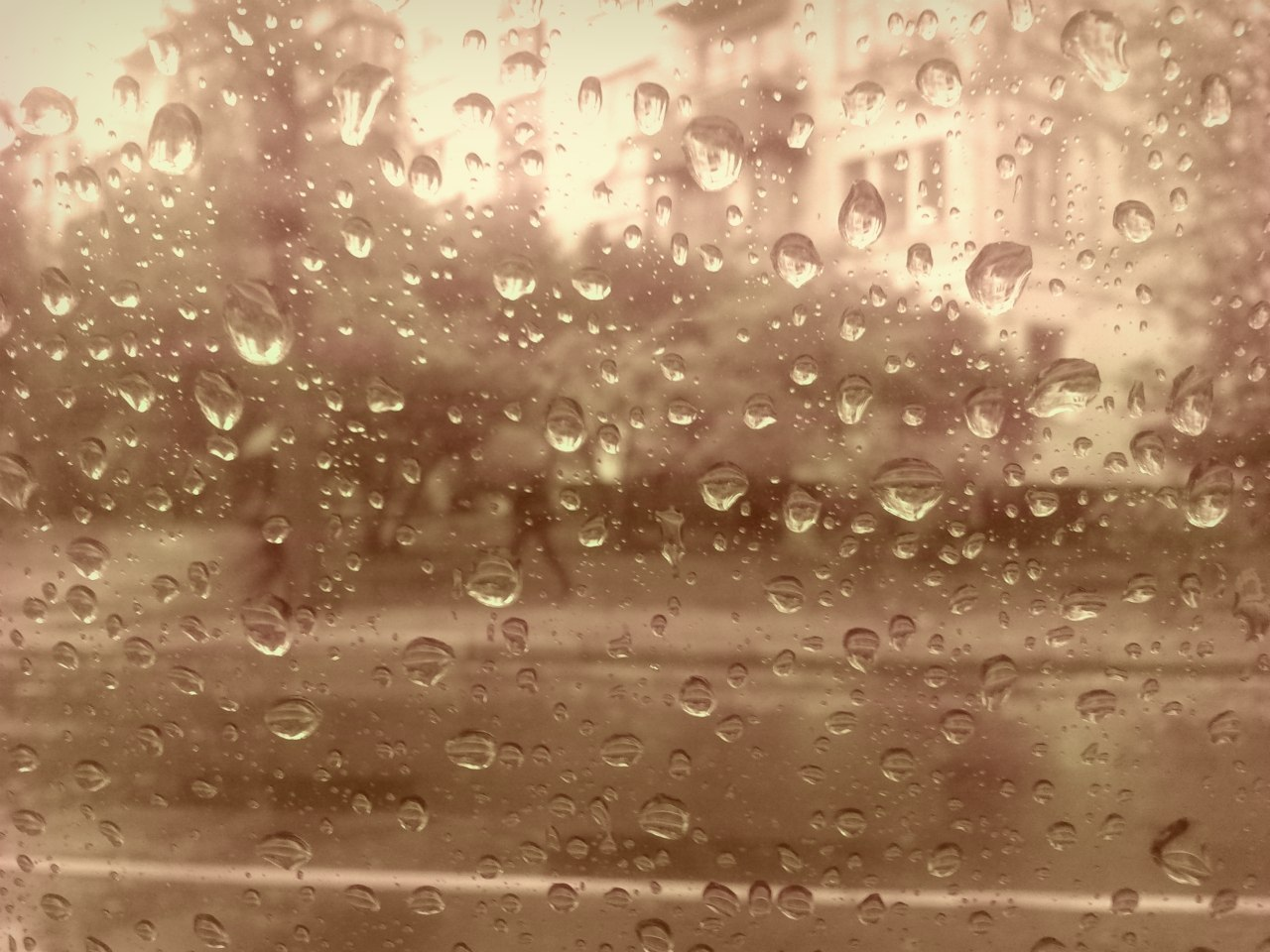 22361 download wallpaper Landscape, Rain, Streets, Drops screensavers and pictures for free