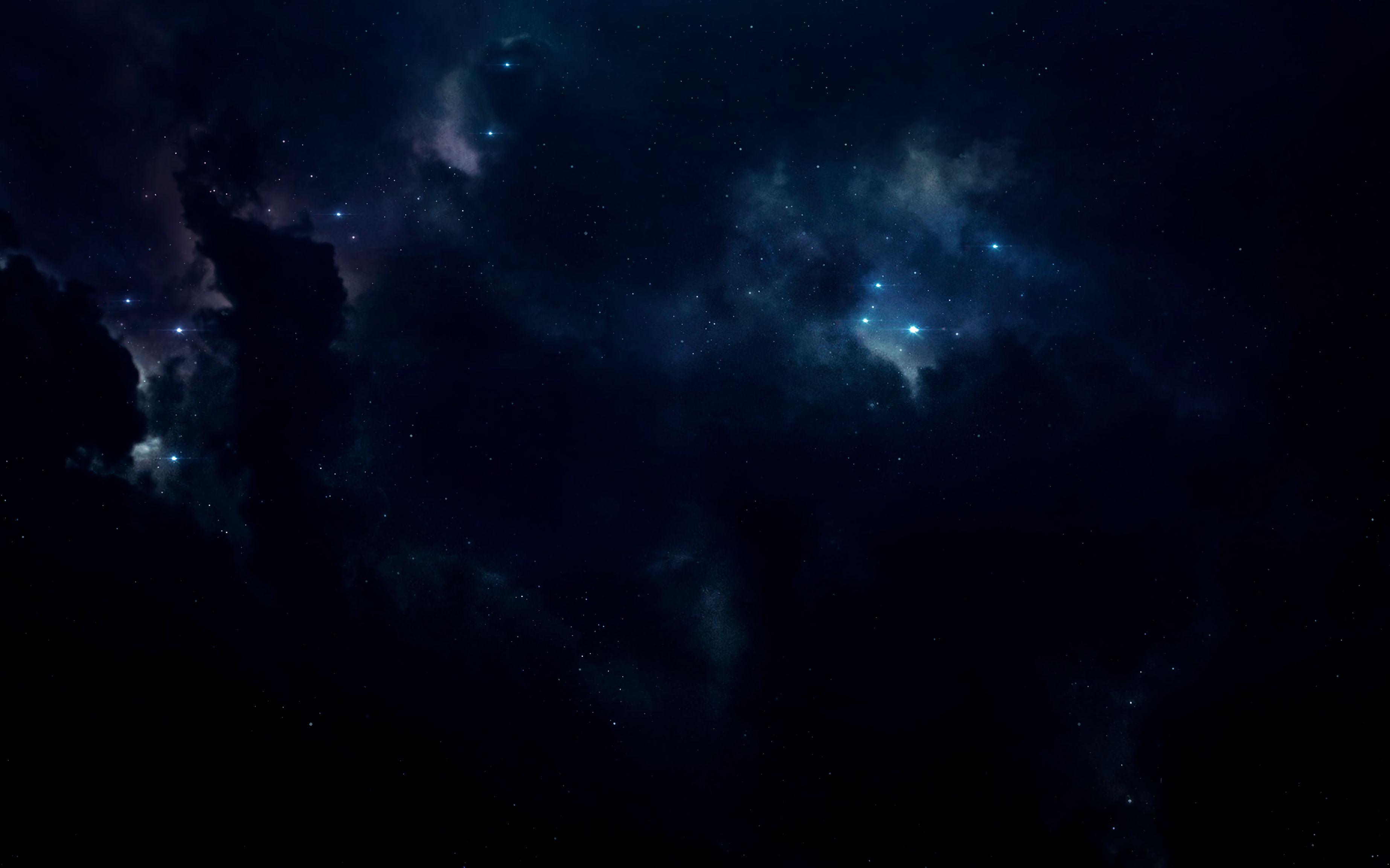 144259 скачать обои Звезды, Космос, Сияние, Темный, Облачный - заставки и картинки бесплатно