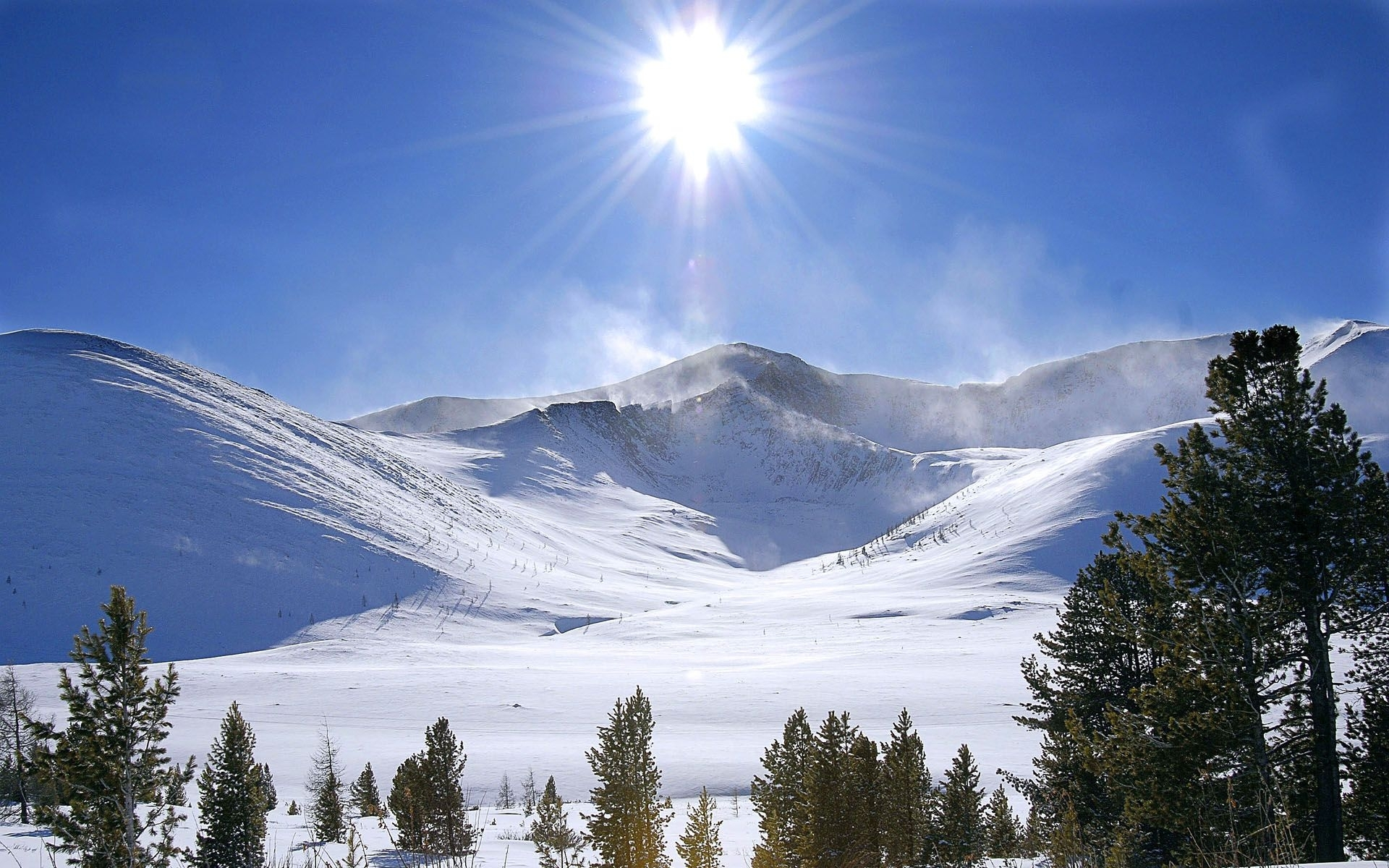 6551 скачать обои Пейзаж, Горы, Солнце - заставки и картинки бесплатно
