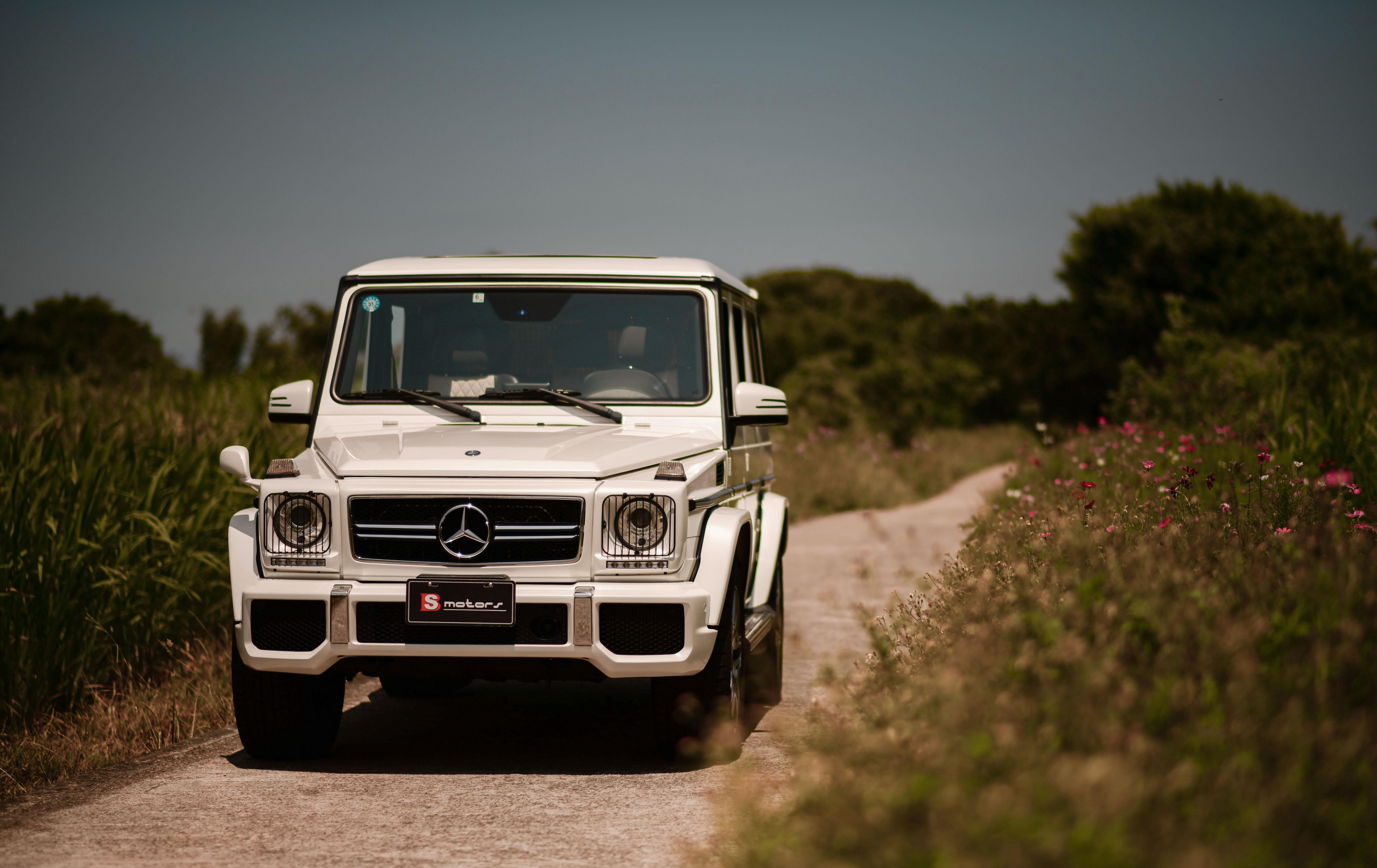 77224 Hintergrundbild herunterladen Mercedes, Auto, Cars, Suv, Vorderansicht, Frontansicht, Maschine, Mercedes-Benz G63 Amg - Bildschirmschoner und Bilder kostenlos