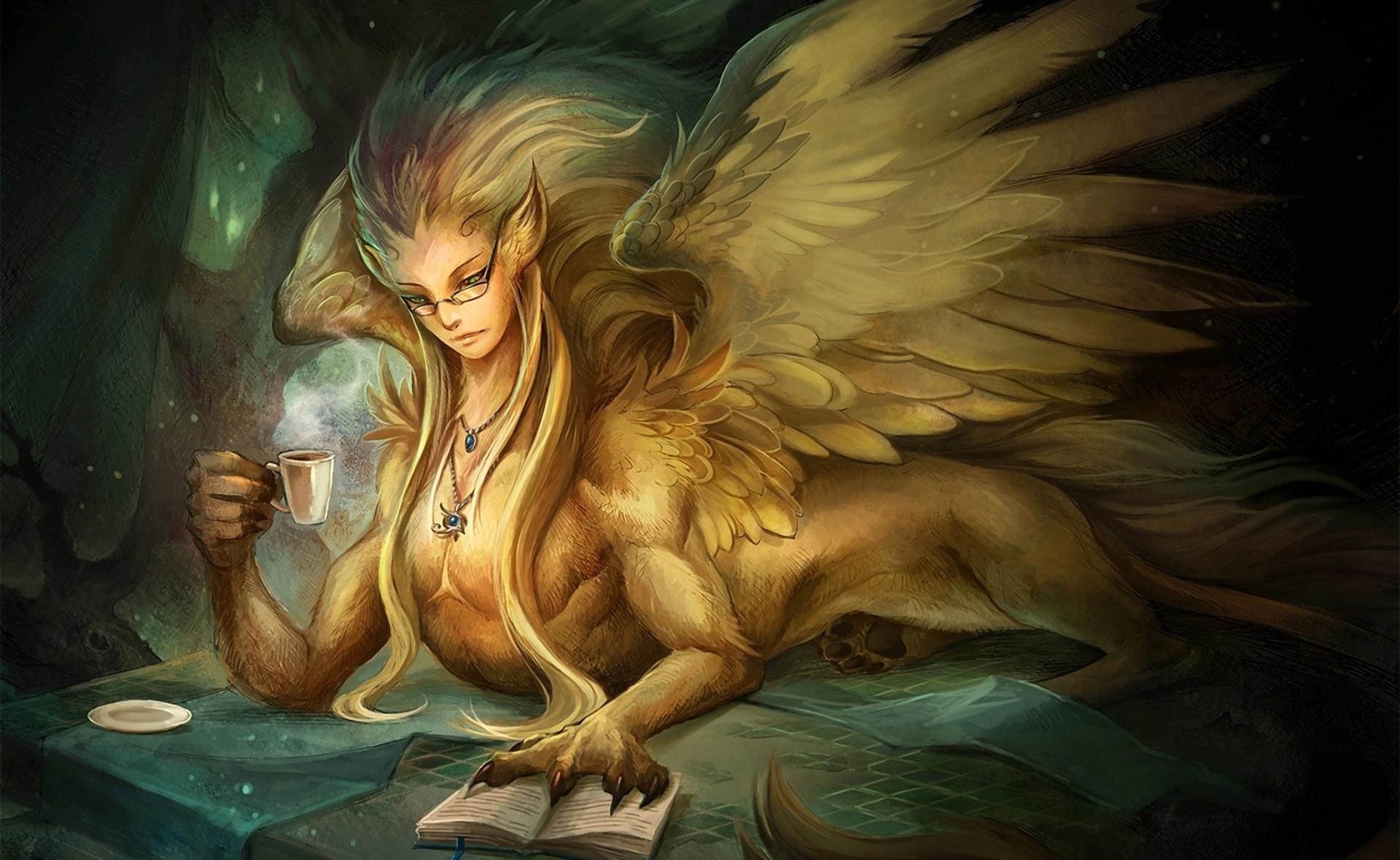 104422 Screensavers and Wallpapers Book for phone. Download Fantasy, Glass, Wings, Book, Being, Creature, Glasses, Spectacles pictures for free