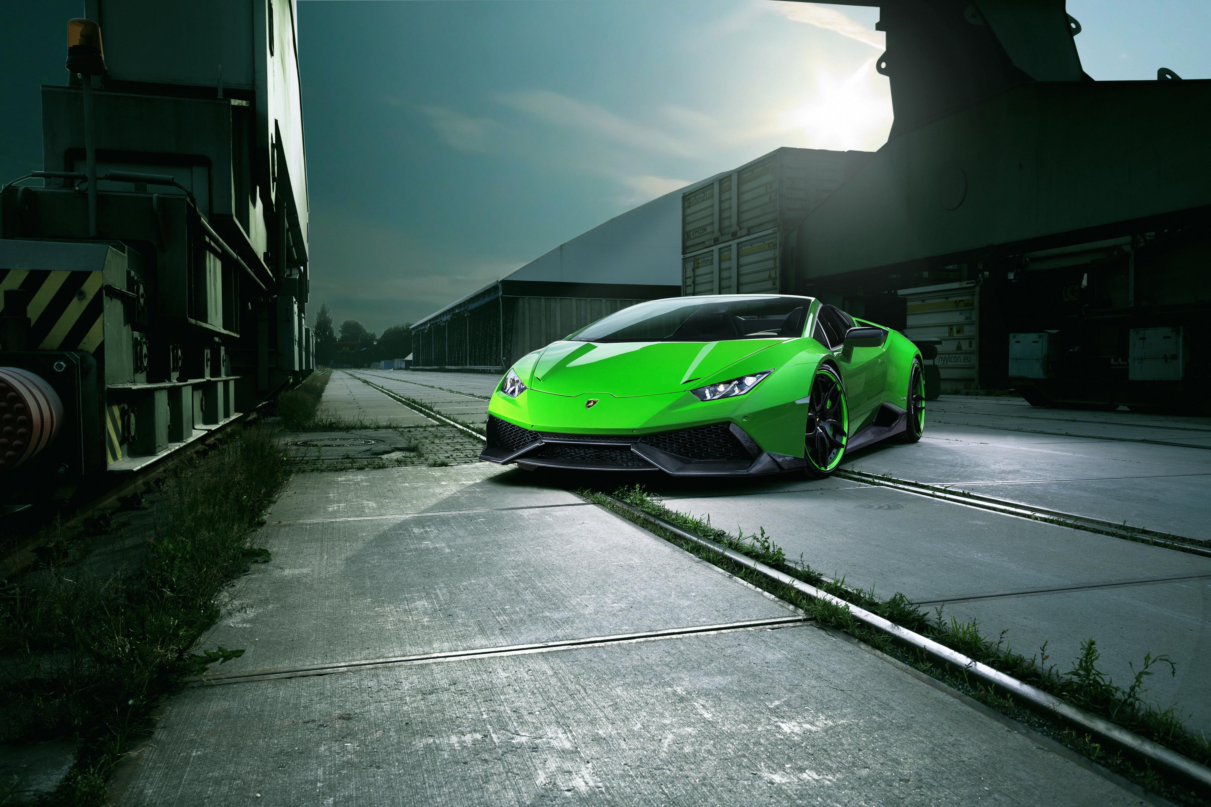 144082 Заставки и Обои Вид Спереди на телефон. Скачать Ламборджини (Lamborghini), Вид Спереди, Тачки (Cars), Зеленый, Huracan, Spyder картинки бесплатно