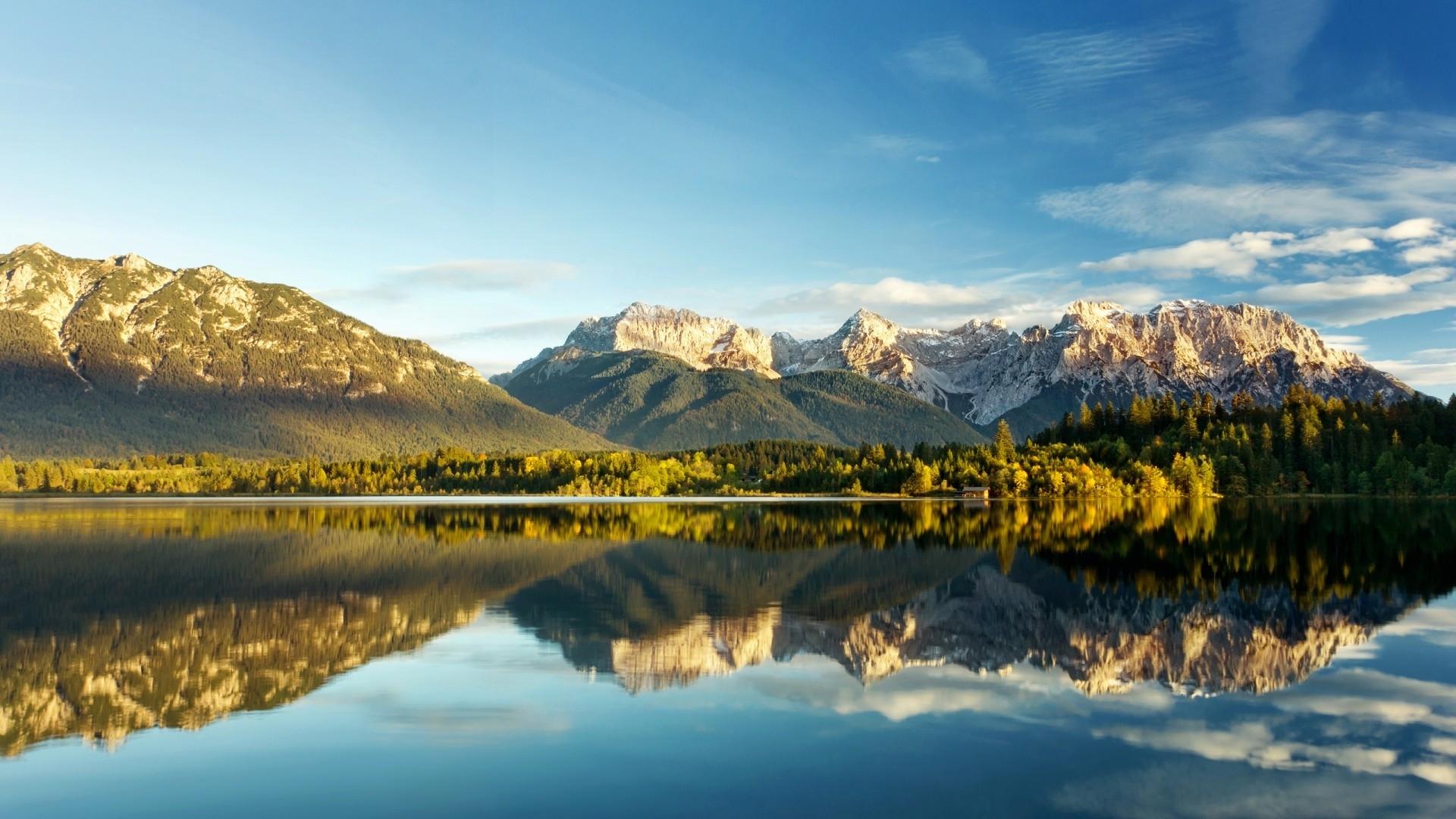 24858 скачать обои Пейзаж, Горы, Облака, Озера - заставки и картинки бесплатно