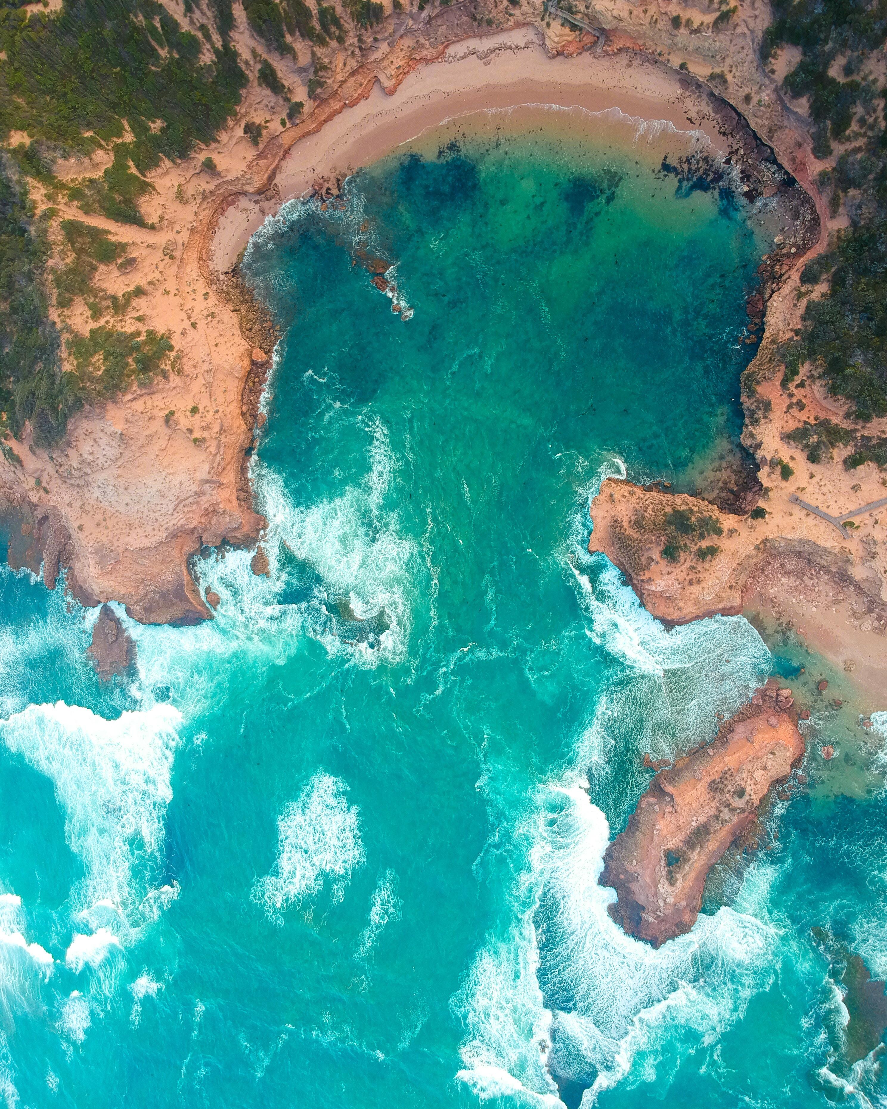 62504 Hintergrundbild 1024x768 kostenlos auf deinem Handy, lade Bilder Natur, Surfen, Blick Von Oben, Küste, Ozean, Australien 1024x768 auf dein Handy herunter