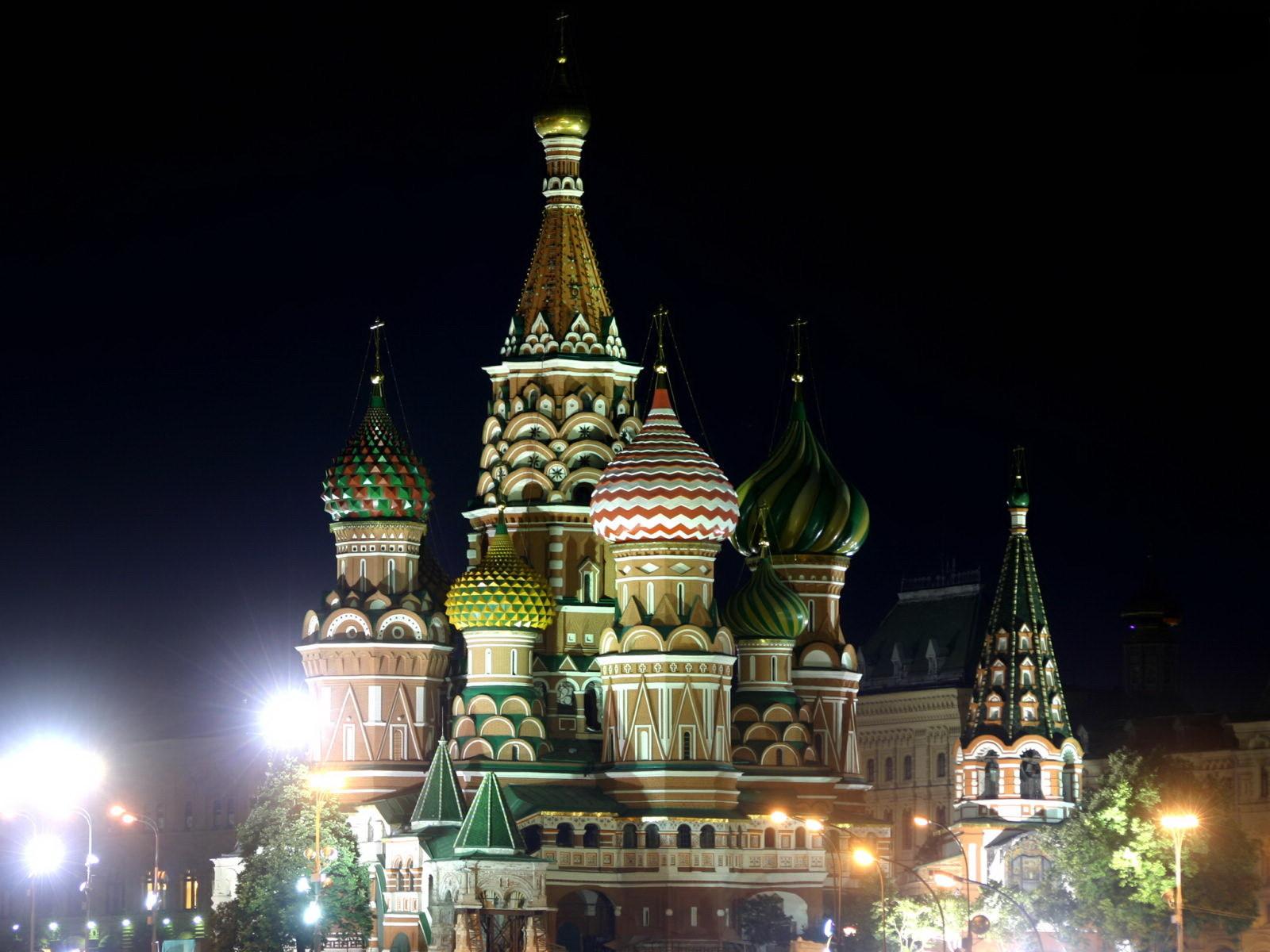 13455 скачать обои Города, Ночь, Архитектура, Москва - заставки и картинки бесплатно