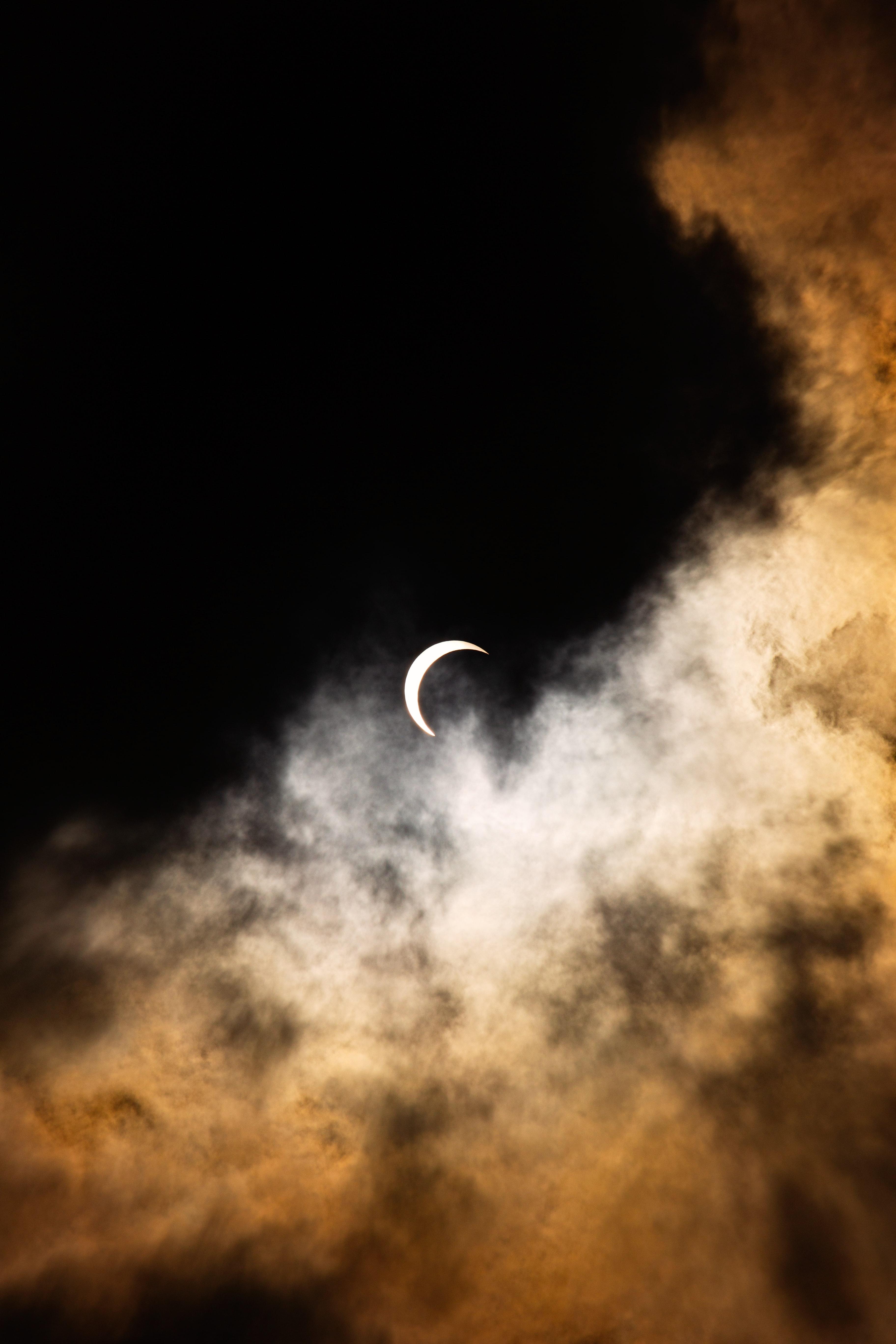 86528 télécharger le fond d'écran Lune, Nuages, Nuit, Le Noir - économiseurs d'écran et images gratuitement
