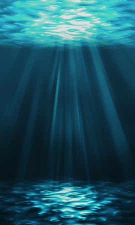 63435壁紙のダウンロード水中の世界, 水中ワールド, ビーム, 光線, アート, 水, 輝く, 光-スクリーンセーバーと写真を無料で