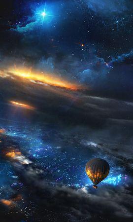 68418壁紙のダウンロードバルーン, 気球, 宇宙, スカイ, アート-スクリーンセーバーと写真を無料で