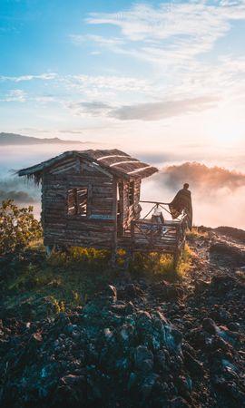 74642壁紙のダウンロード自然, 孤独, 寂しさ, 小さな家, 泊める, プライバシー, 隠遁, インドネシア, 山脈-スクリーンセーバーと写真を無料で