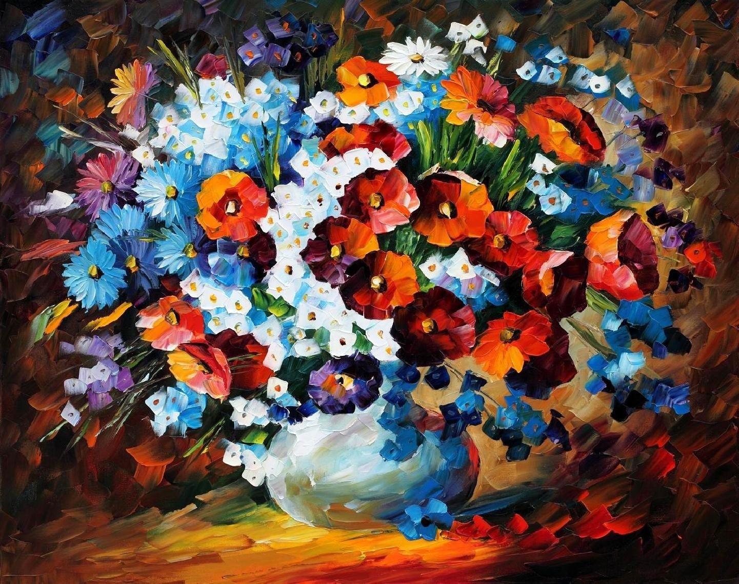 16780 скачать обои Цветы, Рисунки, Натюрморт - заставки и картинки бесплатно