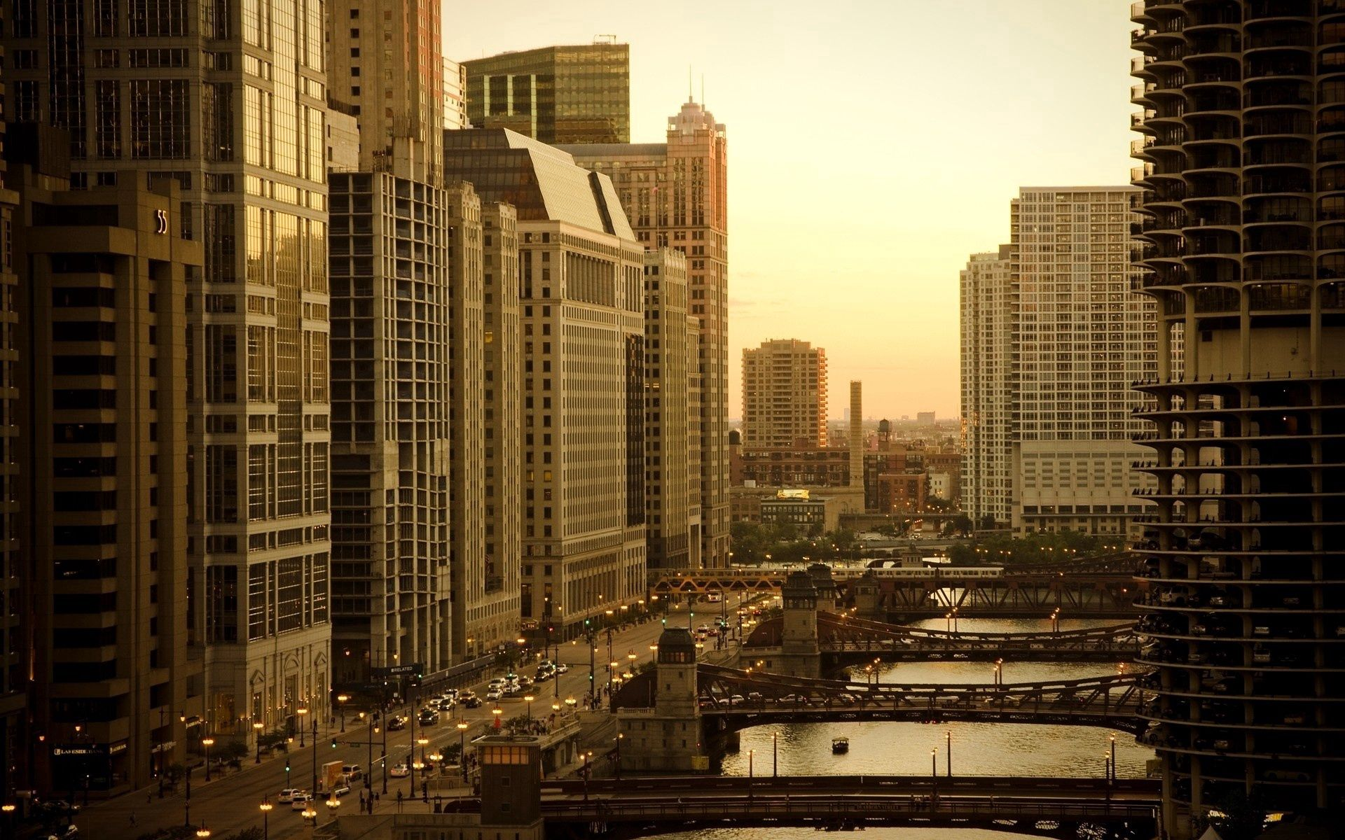 140357 download wallpaper Cities, Houses, Bridges, Sky, City, Skyscrapers screensavers and pictures for free