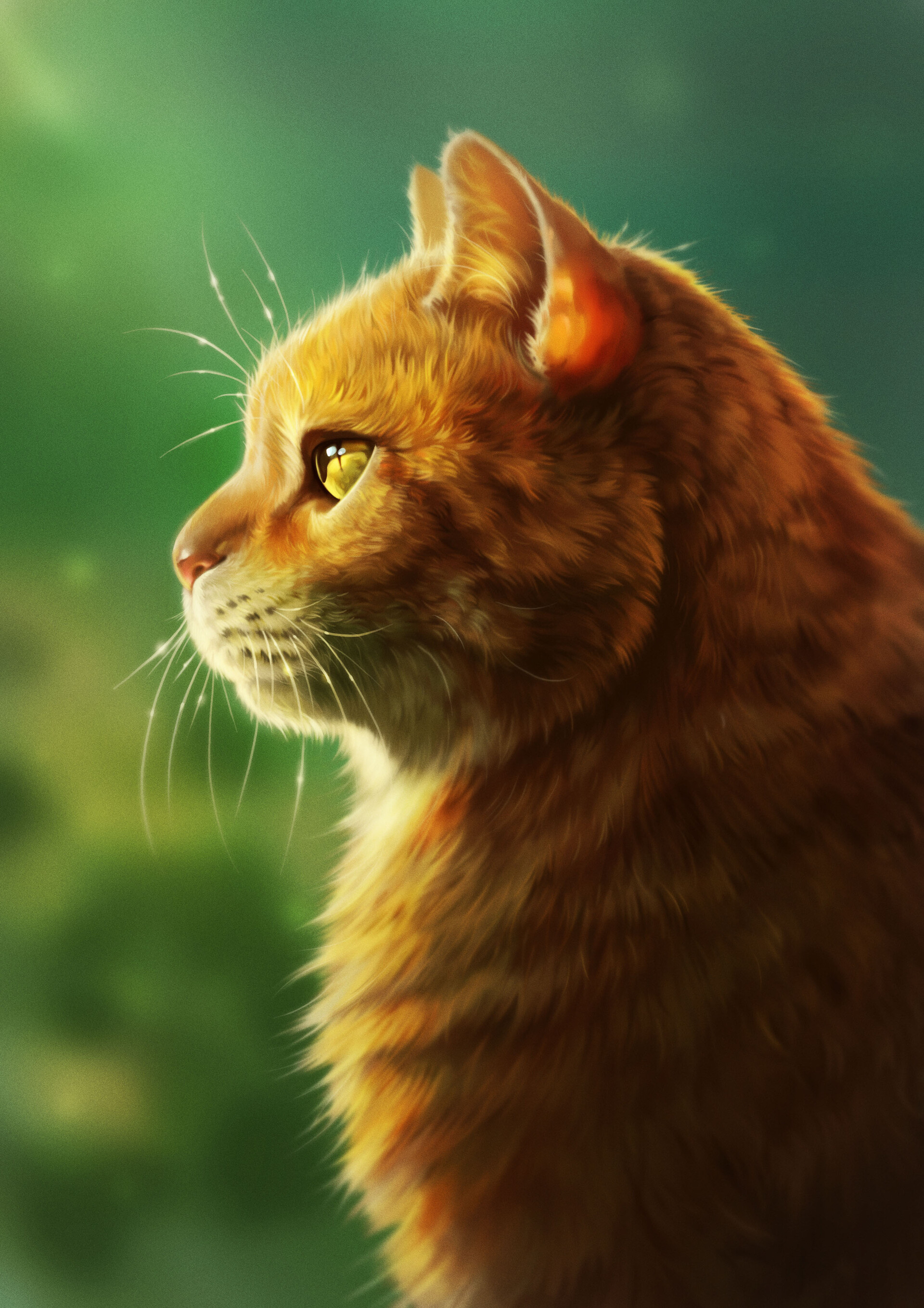 102775 Screensavers and Wallpapers Fluffy for phone. Download Art, Cat, Fluffy, Muzzle, Profile pictures for free