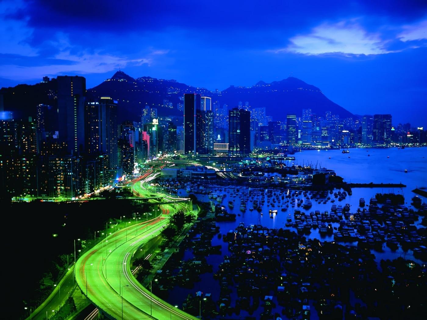 26022 免費下載壁紙 景观, 城市, 海, 夜 屏保和圖片